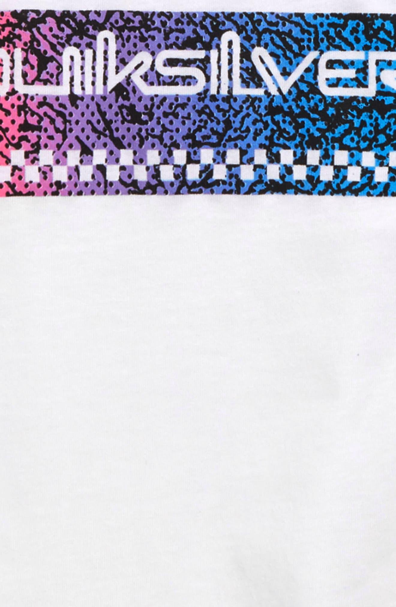 QUIKSILVER, Time Warp T-Shirt, Alternate thumbnail 3, color, WHITE