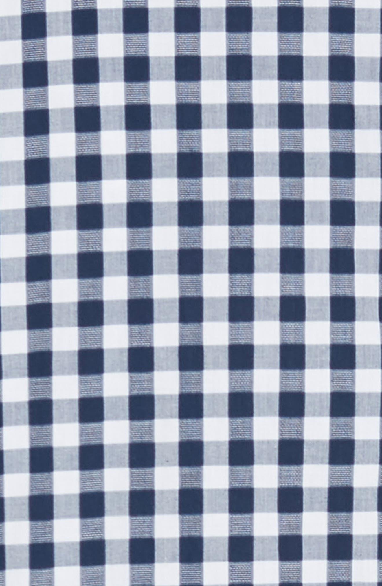 RODD & GUNN, Dixon Check Sport Shirt, Alternate thumbnail 6, color, NAVY