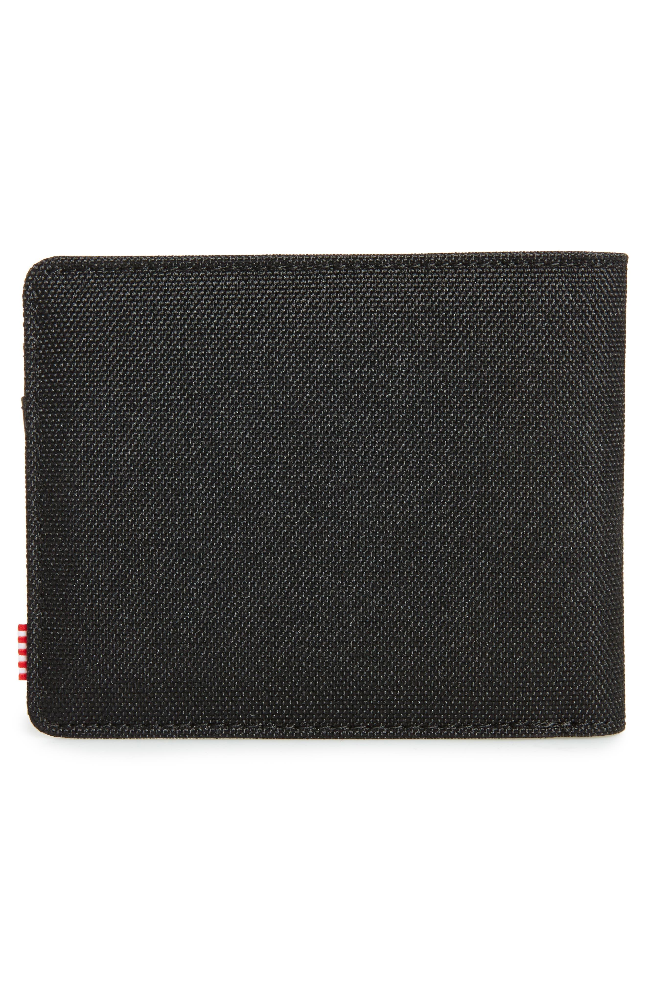 HERSCHEL SUPPLY CO., Hank RFID Bifold Wallet, Alternate thumbnail 3, color, BLACK