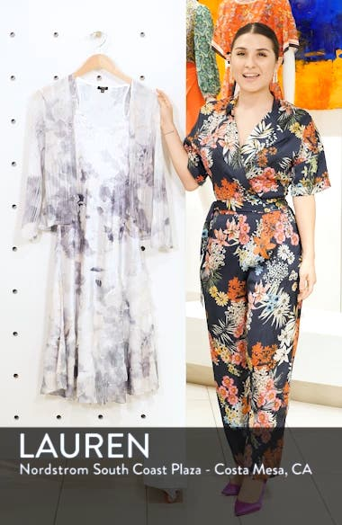 Floral Charmeuse & Chiffon Dress with Jacket, sales video thumbnail