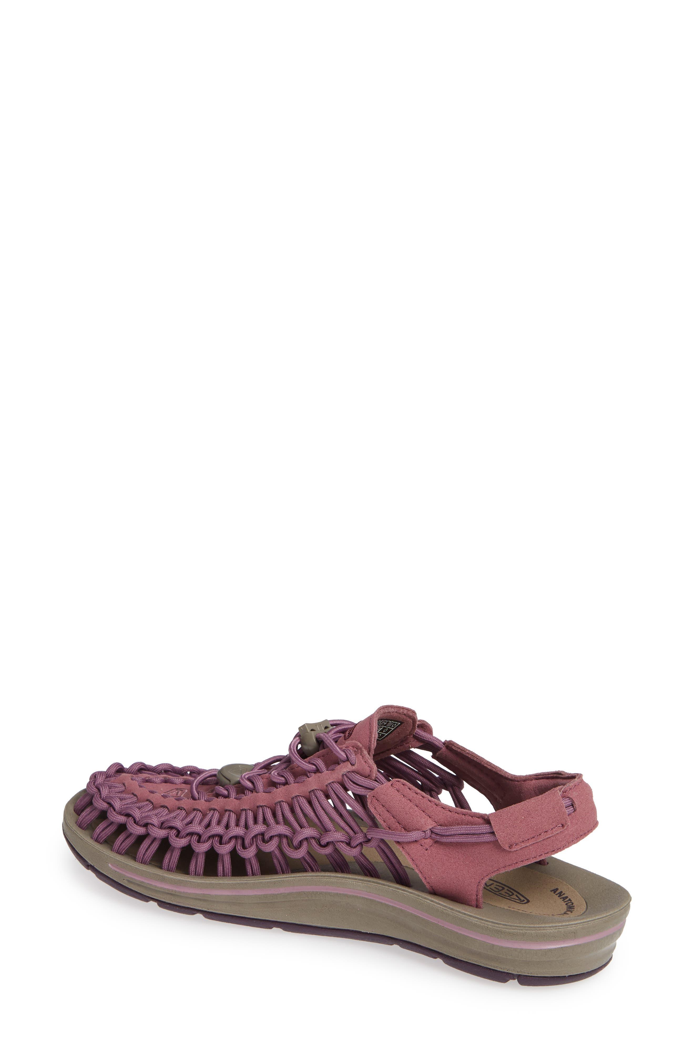 KEEN, 'Uneek' Water Sneaker, Alternate thumbnail 2, color, TULIPWOOD/ WINETASTING