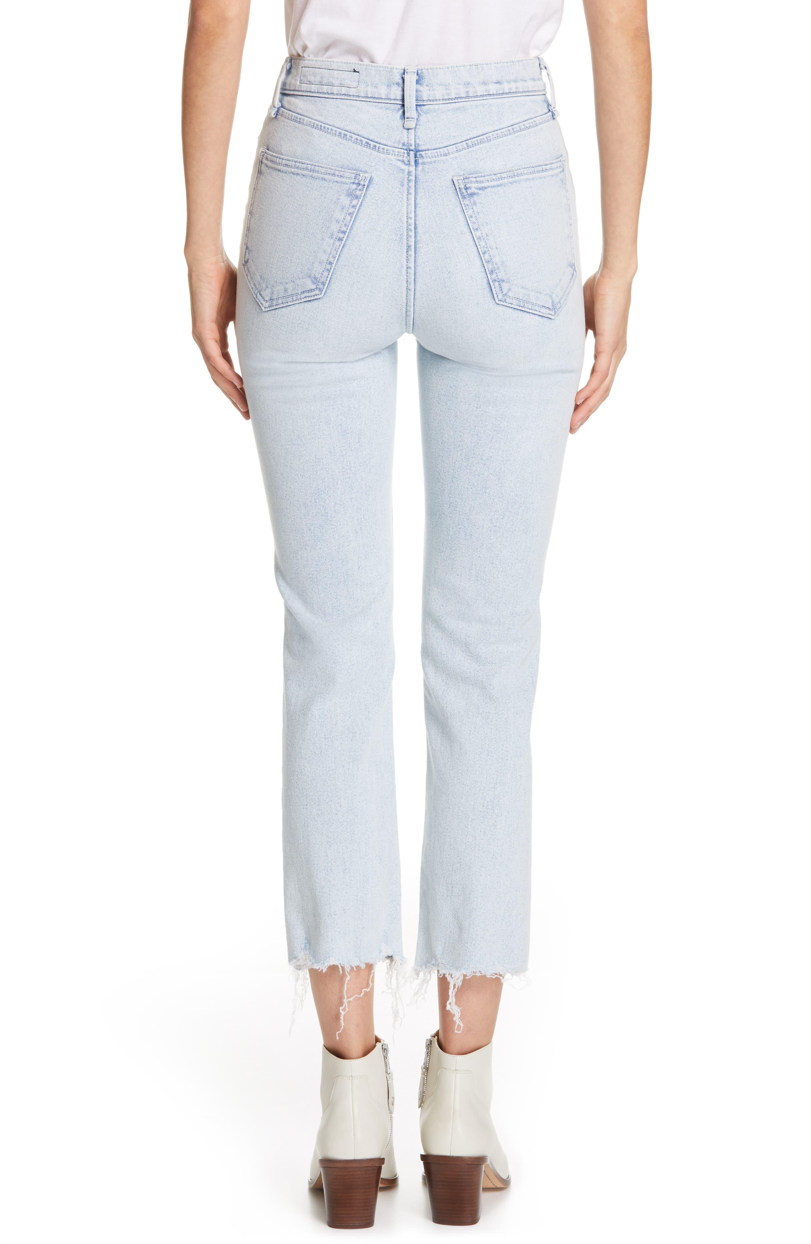 RAG & BONE, JEAN High Waist Ripped Ankle Cigarette Jeans, Alternate thumbnail 2, color, 450