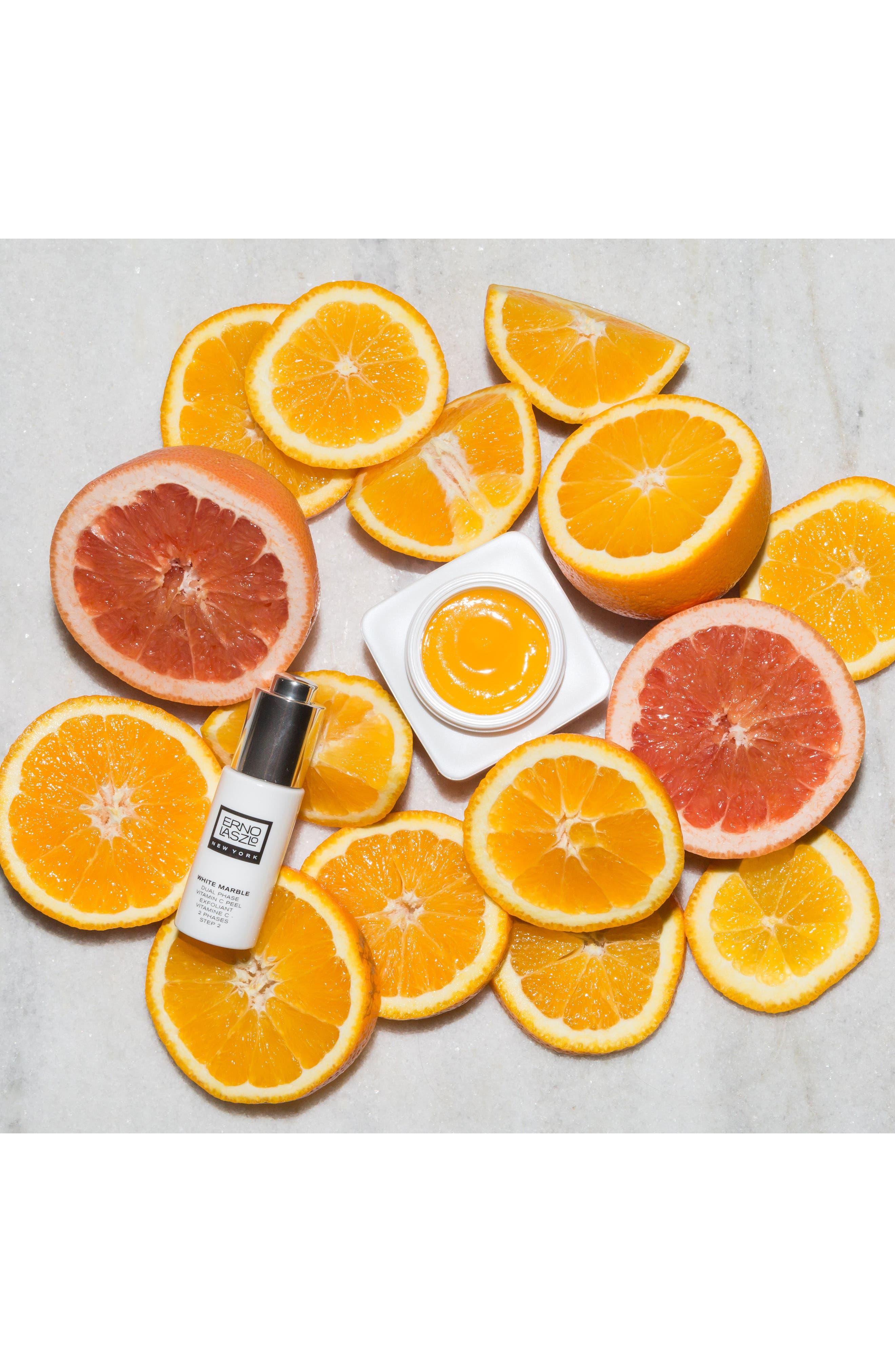 ERNO LASZLO, White Marble Dual Phase Vitamin C Peel, Alternate thumbnail 4, color, NO COLOR