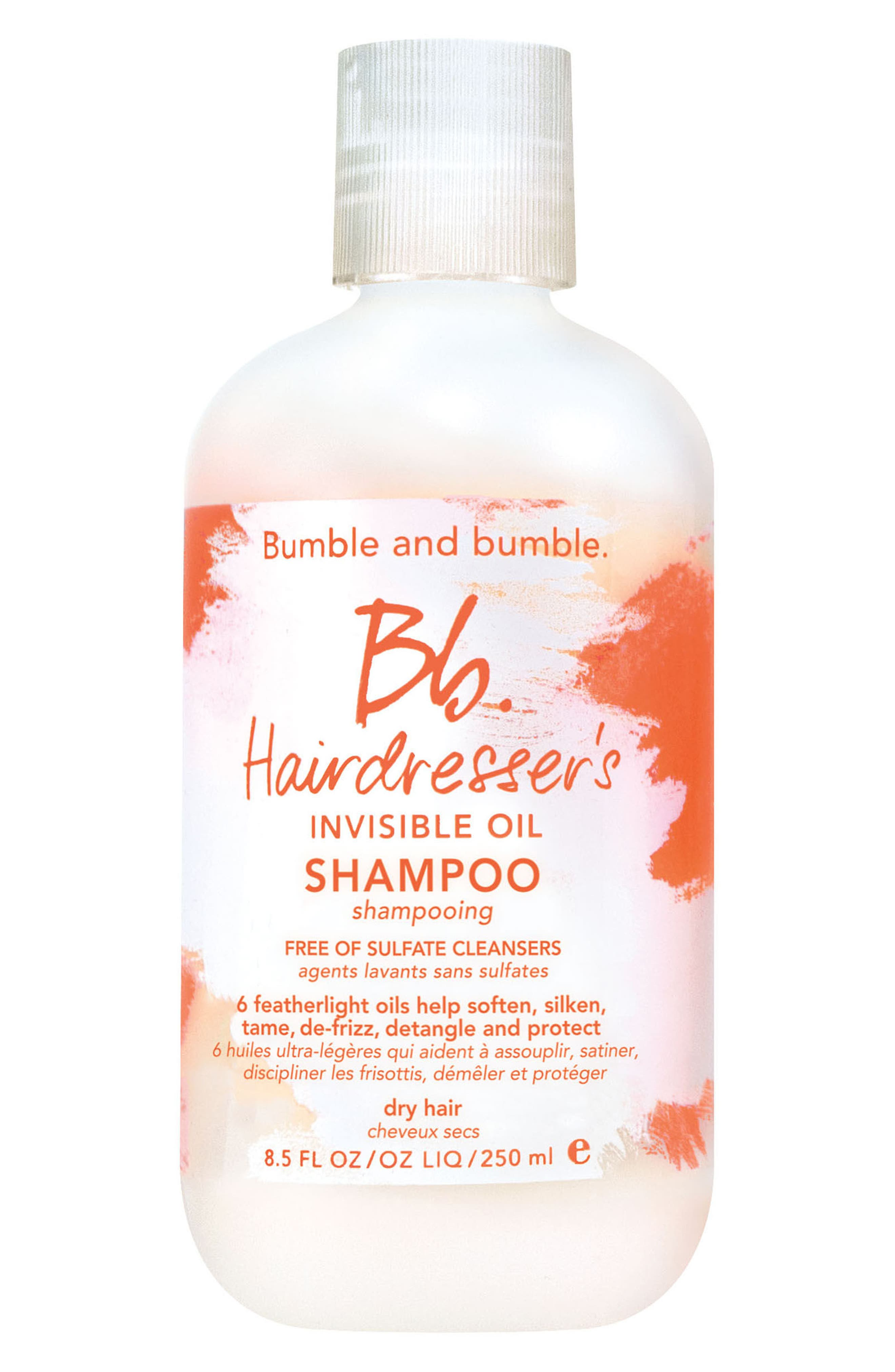 BUMBLE AND BUMBLE, Hairdresser's Invisible Oil Shampoo, Main thumbnail 1, color, NO COLOR
