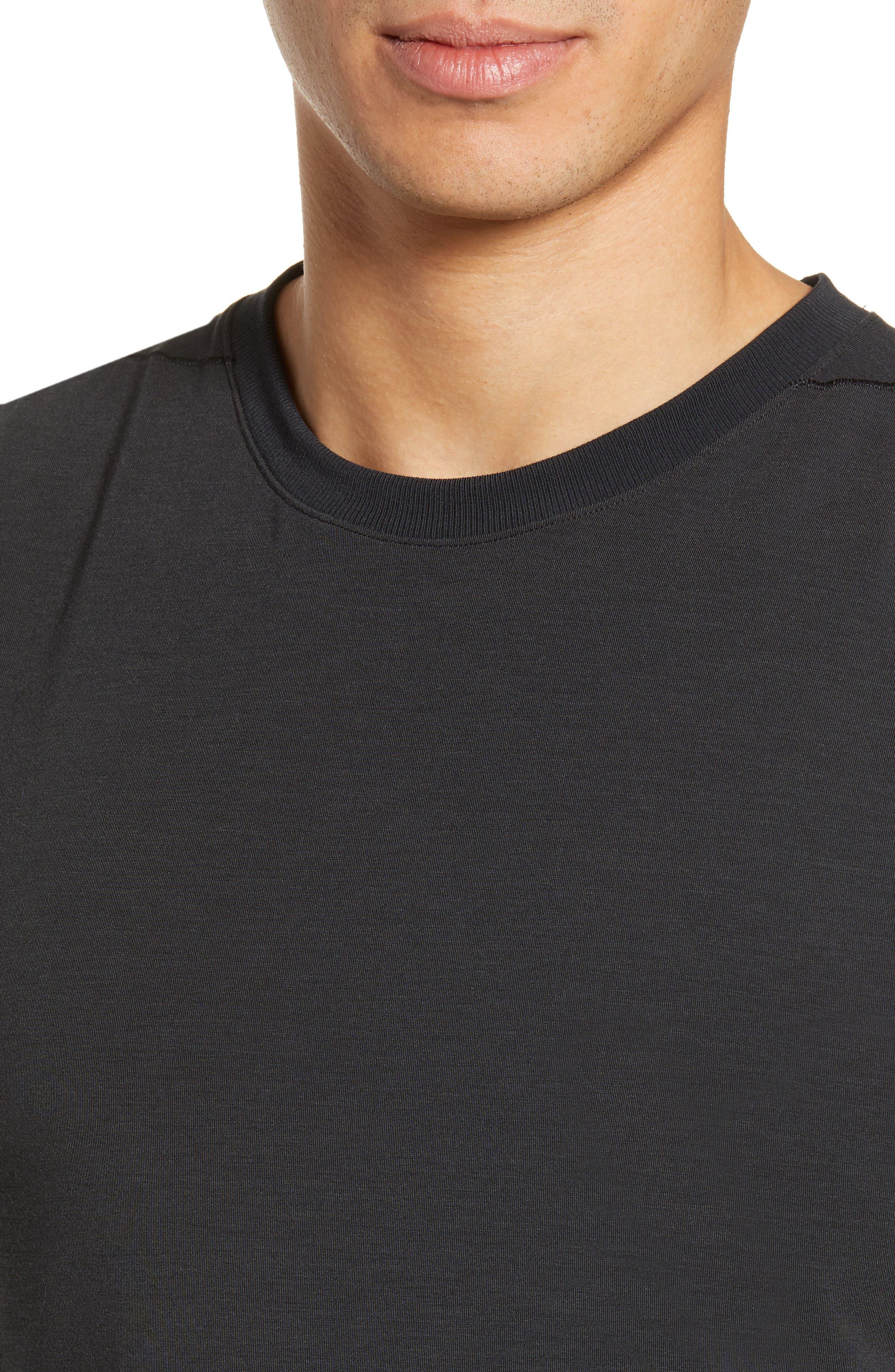 NIKE, Dry Transcent Sleeveless T-Shirt, Alternate thumbnail 4, color, BLACK/ DARK GREY