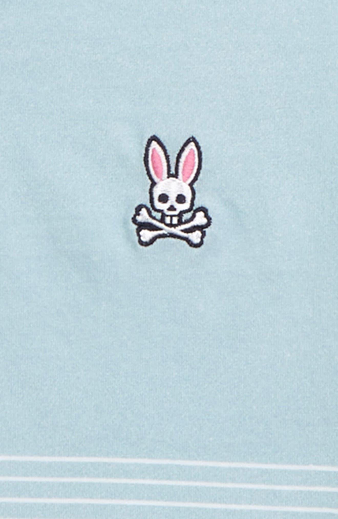 PSYCHO BUNNY, Warrington V-Neck T-Shirt, Alternate thumbnail 2, color, SEAFOAM