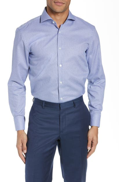 Boss Dresses MARK SHARP FIT GEOMETRIC DRESS SHIRT