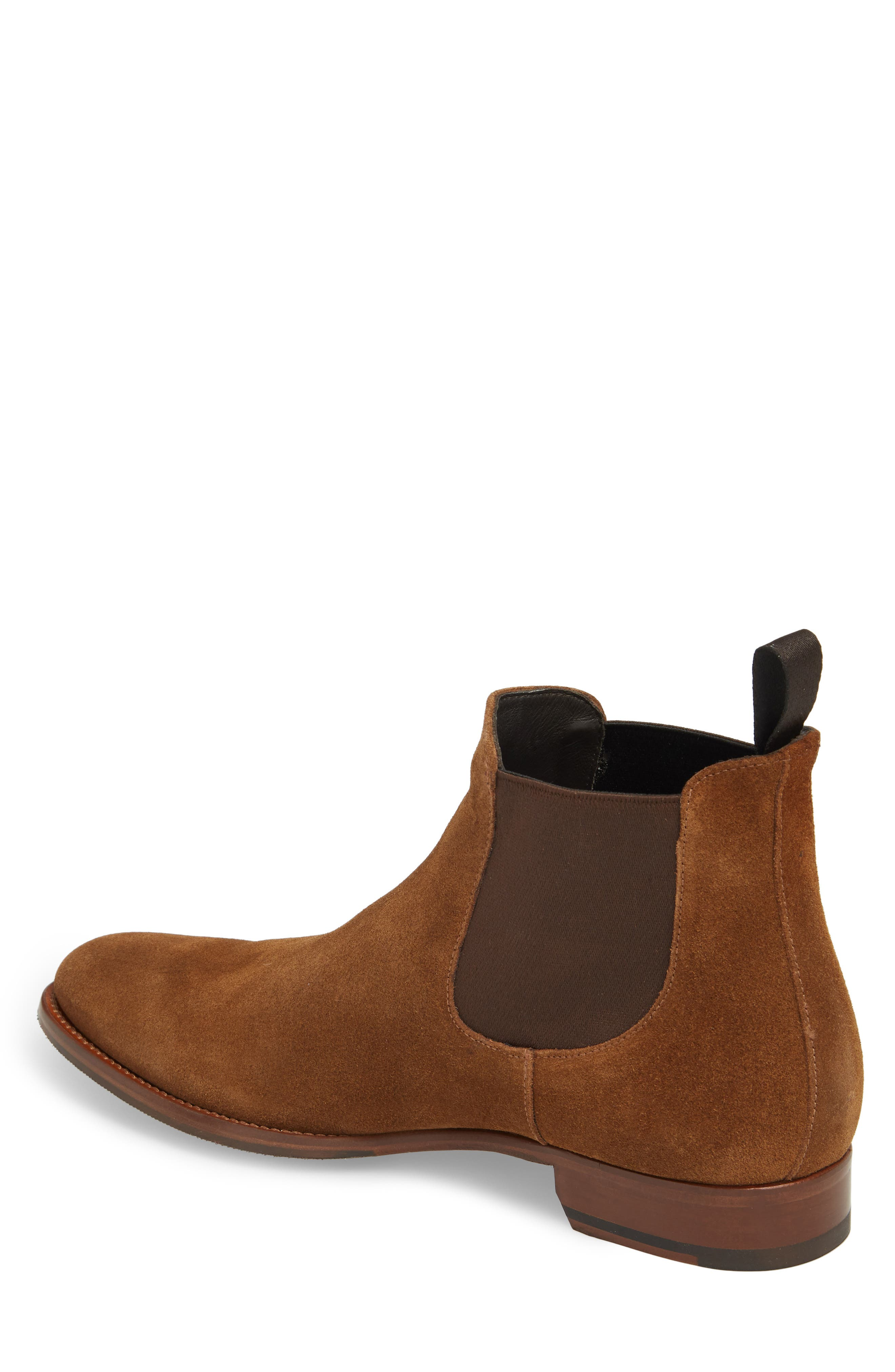 TO BOOT NEW YORK, Shelby Mid Chelsea Boot, Alternate thumbnail 2, color, MID BROWN SUEDE