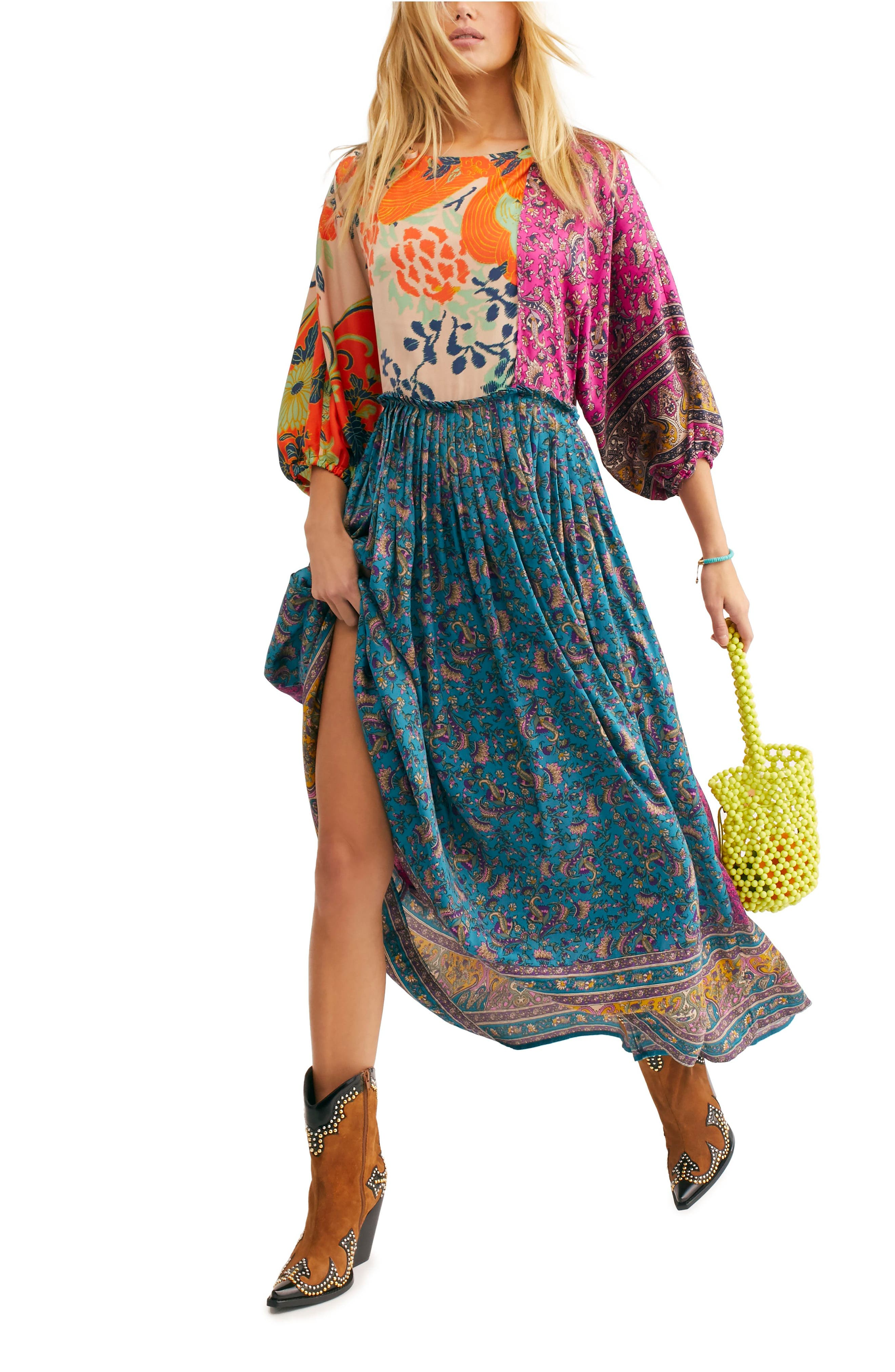 FREE PEOPLE, What You Want Maxi Dress, Alternate thumbnail 9, color, MULTI
