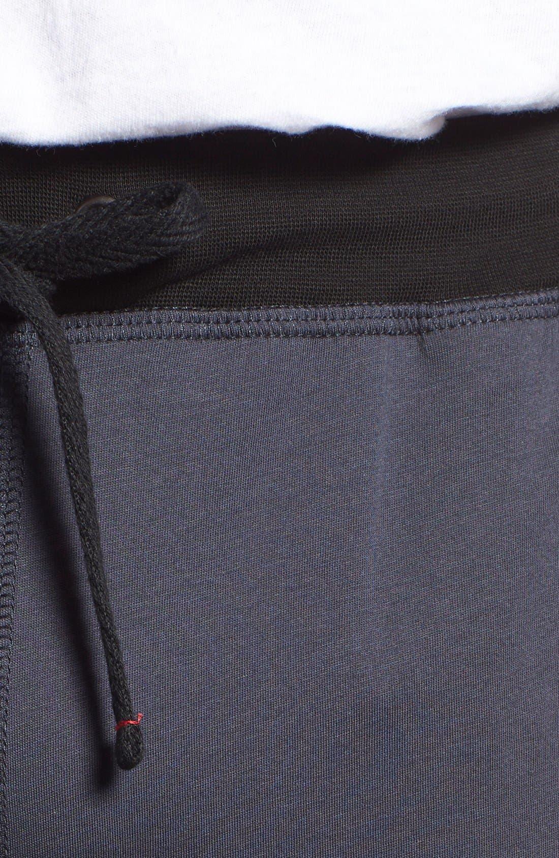 DANIEL BUCHLER, Peruvian Pima Cotton Lounge Pants, Alternate thumbnail 4, color, INK