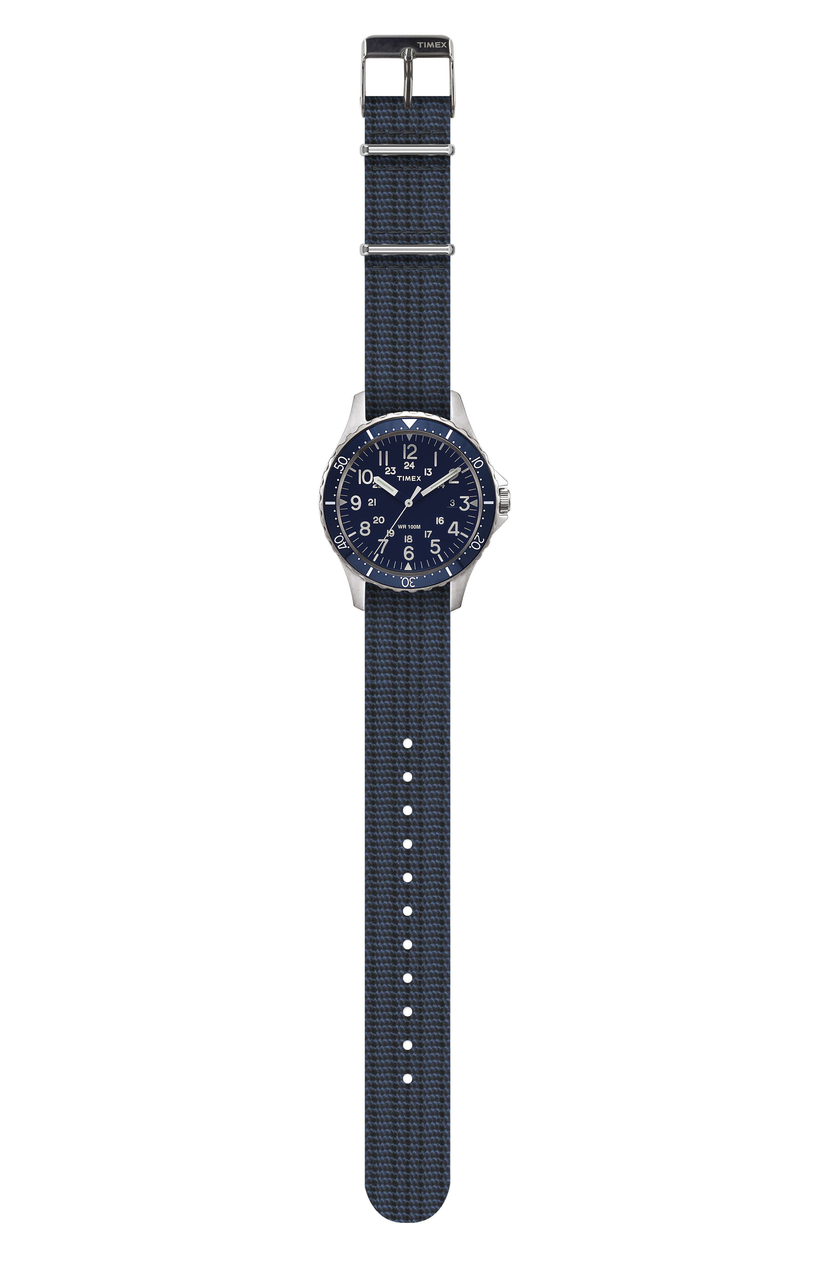 TIMEX<SUP>®</SUP> ARCHIVE, Navi Harbor NATO Strap Watch, 38mm, Alternate thumbnail 2, color, 410