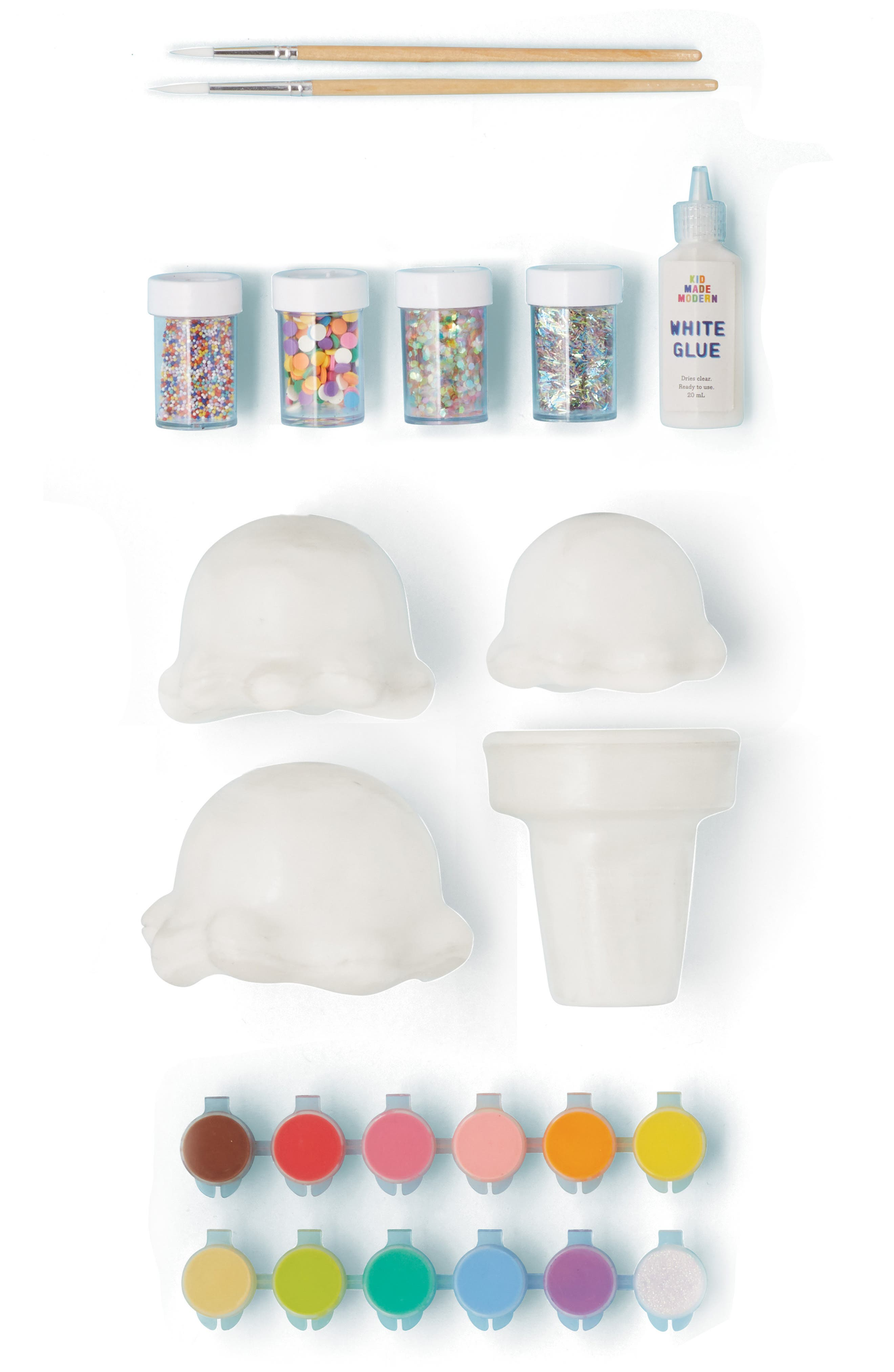 KID MADE MODERN, Paint Your Own Ice Cream Cone Kit, Alternate thumbnail 3, color, MULTI