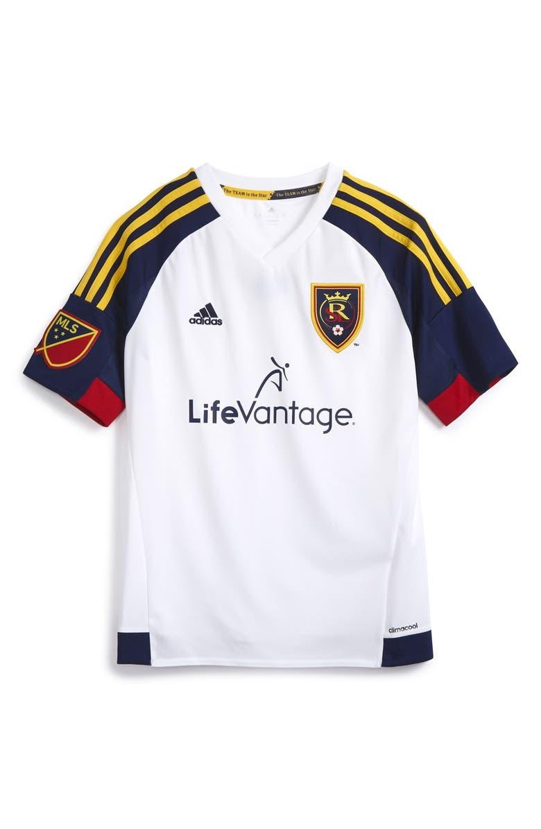 349b5bf26f7 adidas 'Real Salt Lake' CLIMALITE® Away Soccer Jersey (Big Boys ...