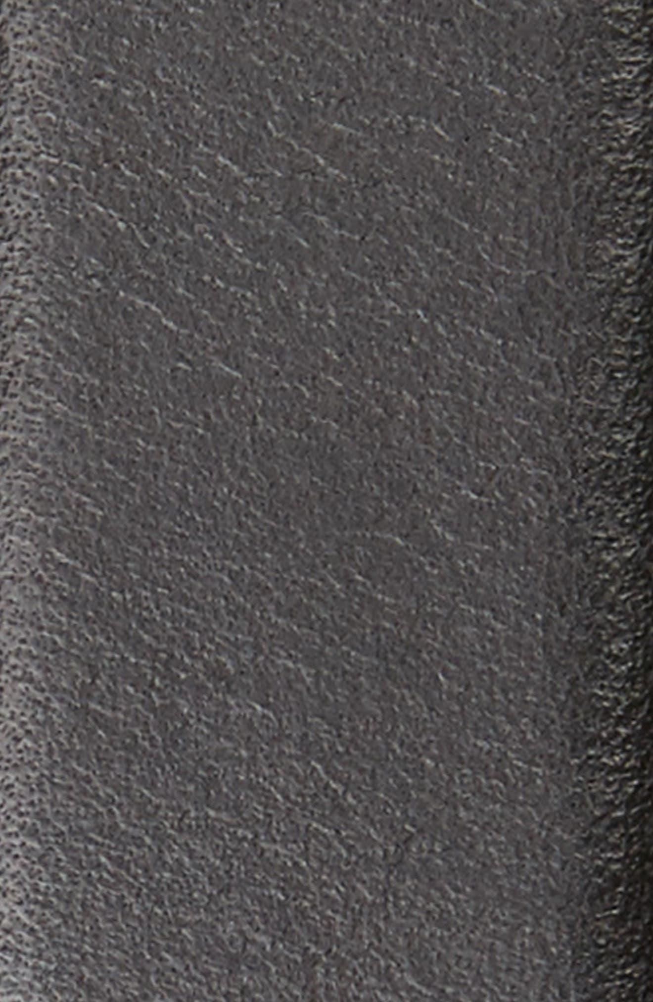 NORDSTROM MEN'S SHOP, Carter Leather Dress Belt, Alternate thumbnail 2, color, BLACK