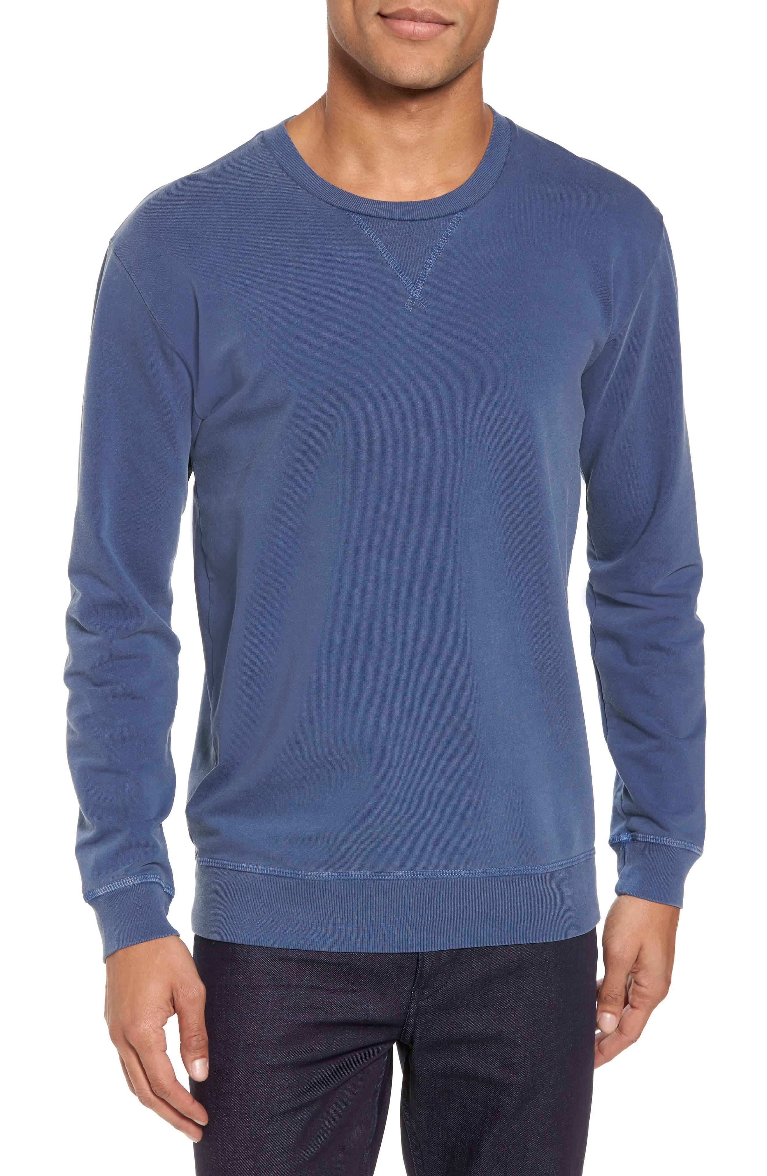GOODLIFE, Slim Fit Crewneck Sweatshirt, Main thumbnail 1, color, FADED NAVY