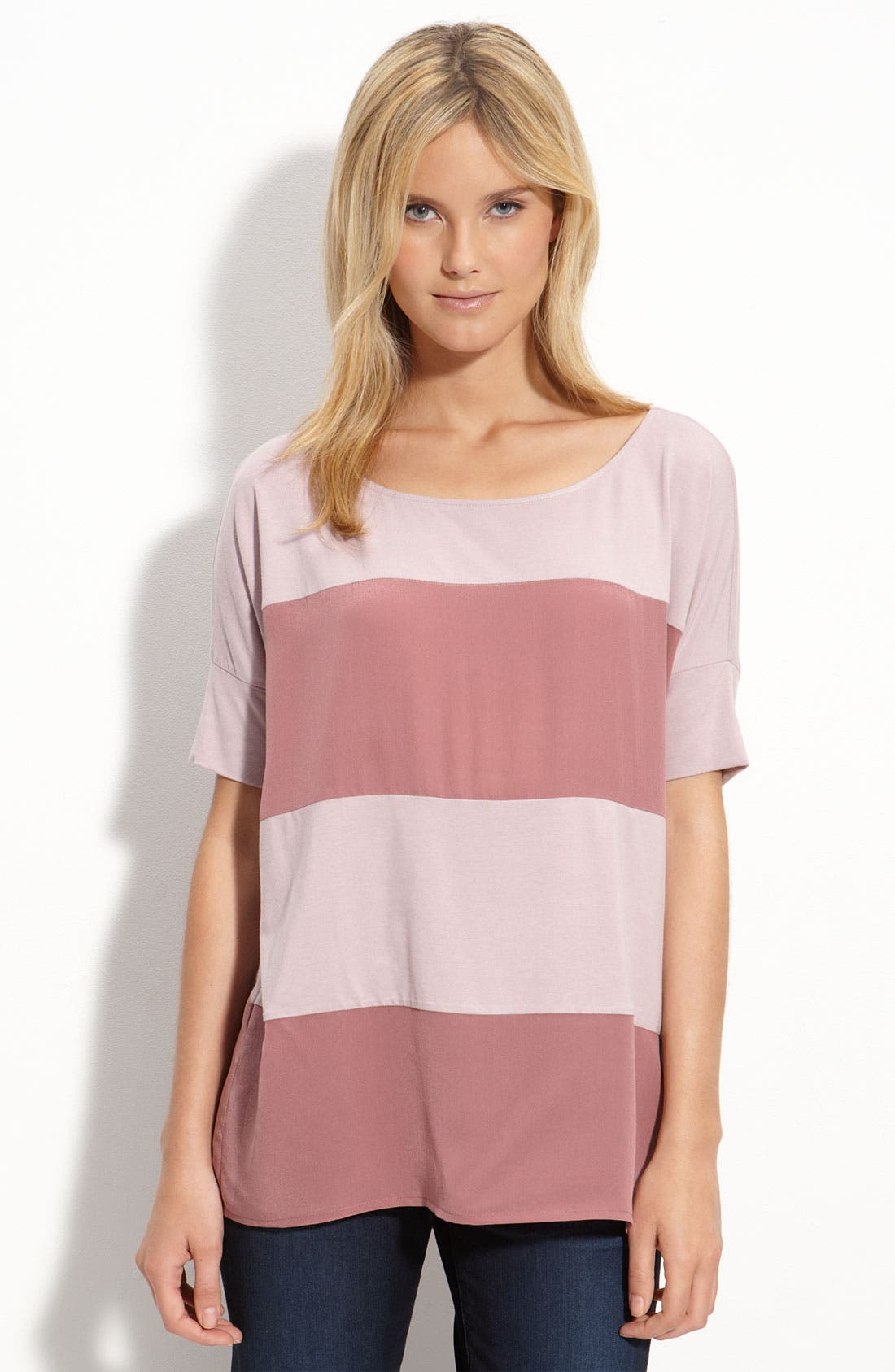 BEHOLIC, Colorblock Stripe Top, Main thumbnail 1, color, 452
