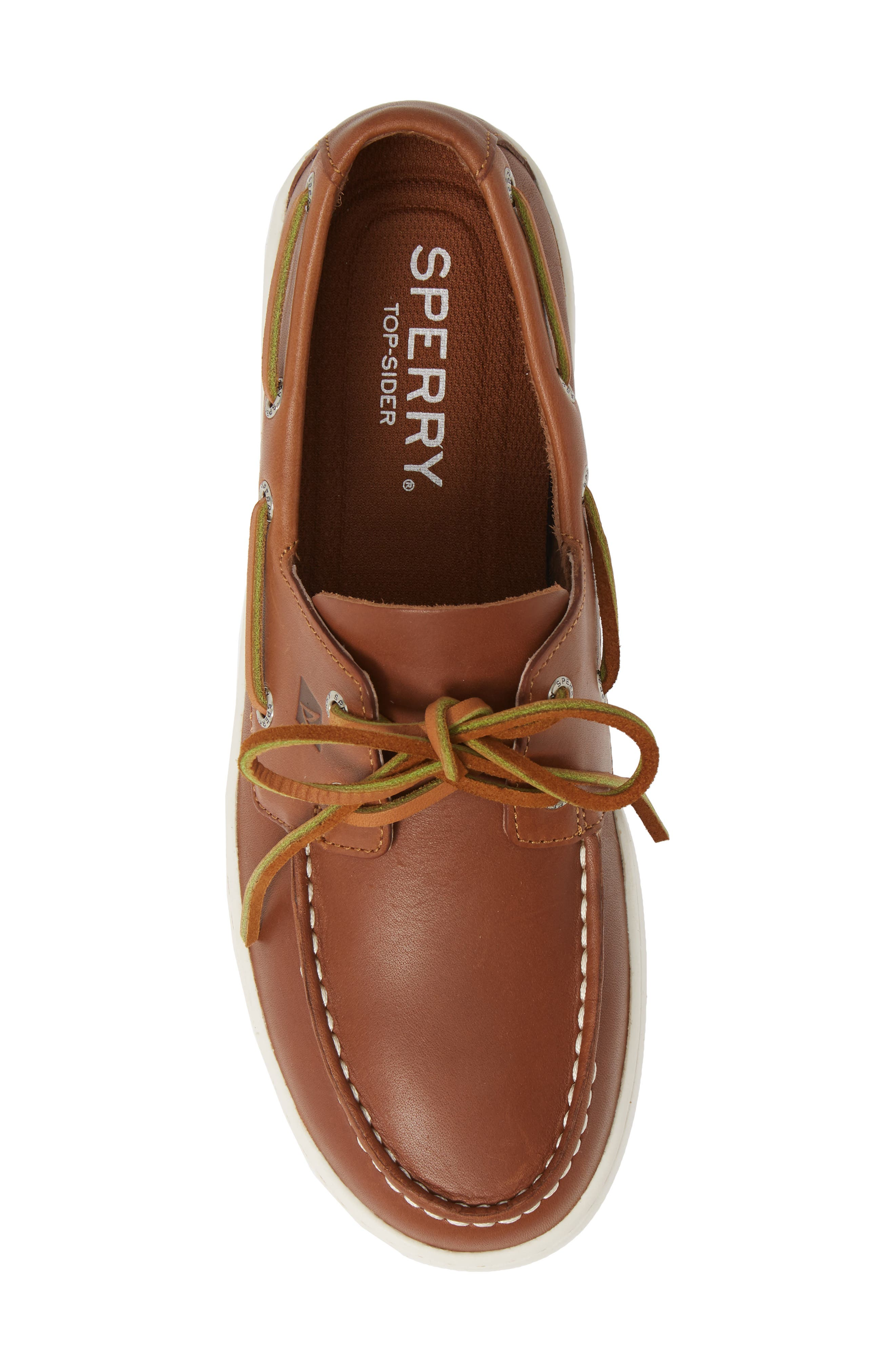 SPERRY, Cup Boat Shoe, Alternate thumbnail 5, color, TAN