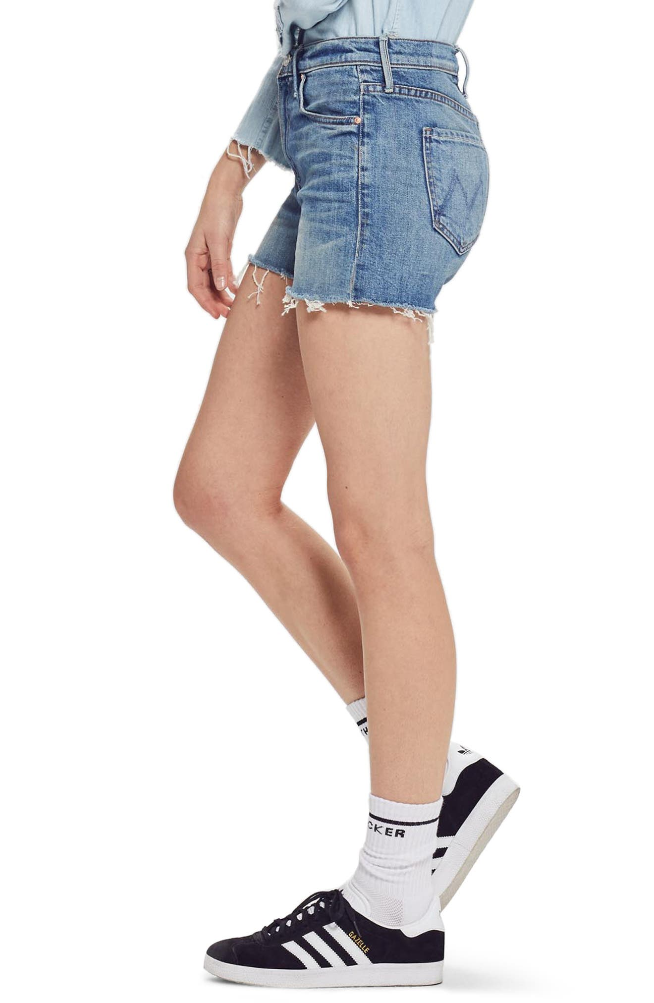 MOTHER, The Dutchie Cutoff Shorts, Alternate thumbnail 4, color, SACRED