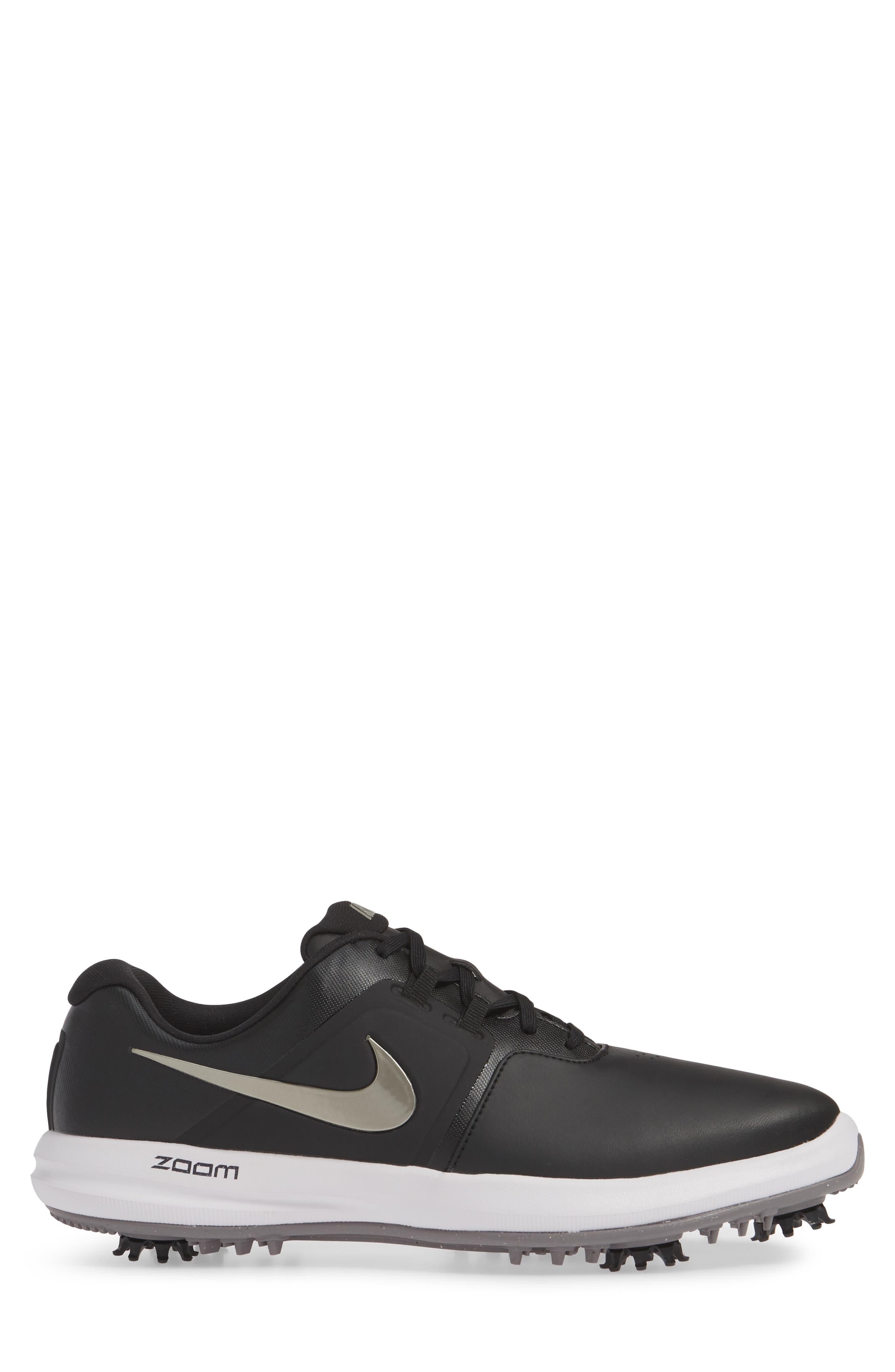 NIKE, Air Zoom Victory Golf Shoe, Alternate thumbnail 3, color, BLACK/ PEWTER/ VAST GREY