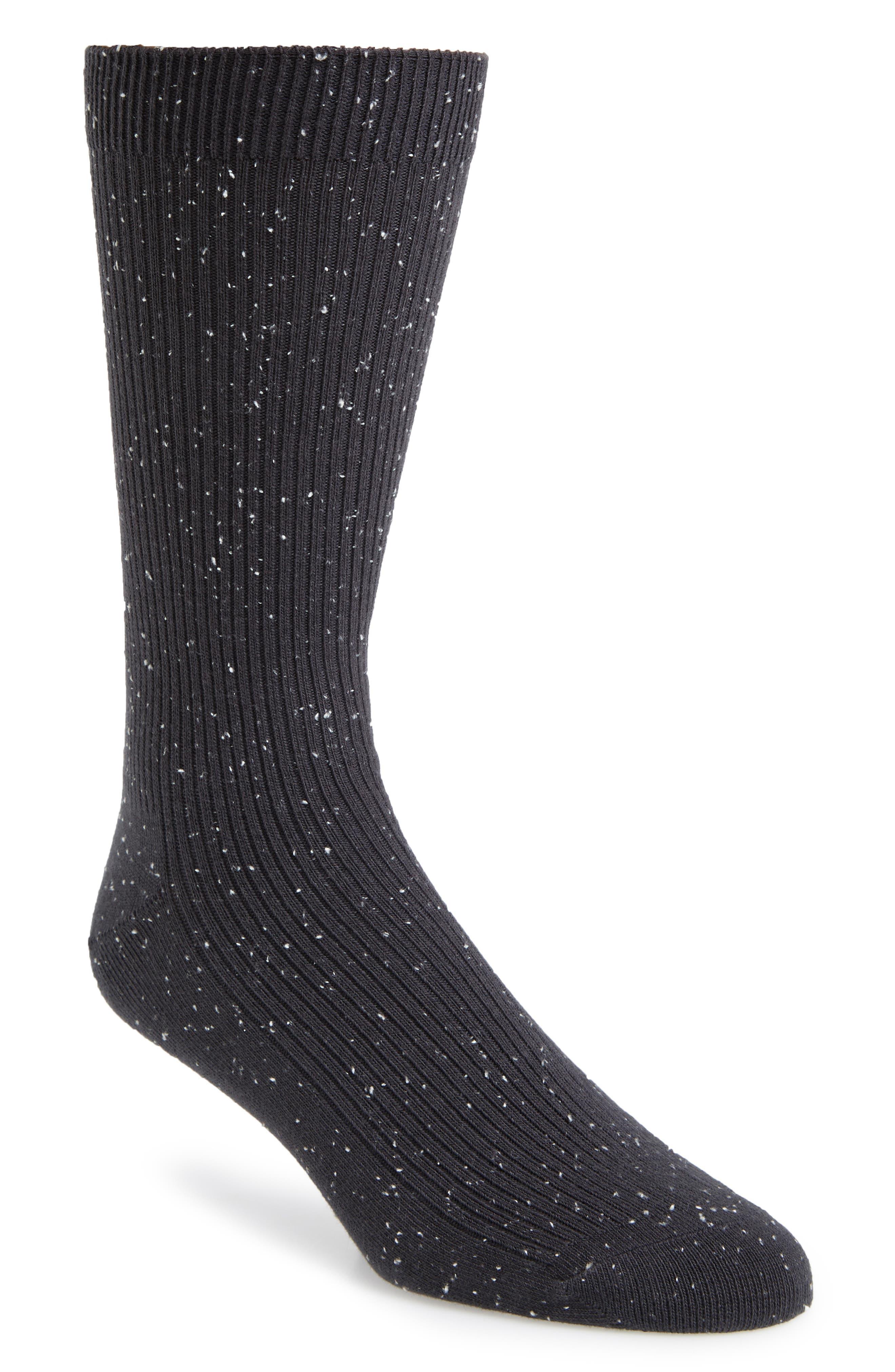 1901 Ribbed Socks, Main, color, GREY ONYX