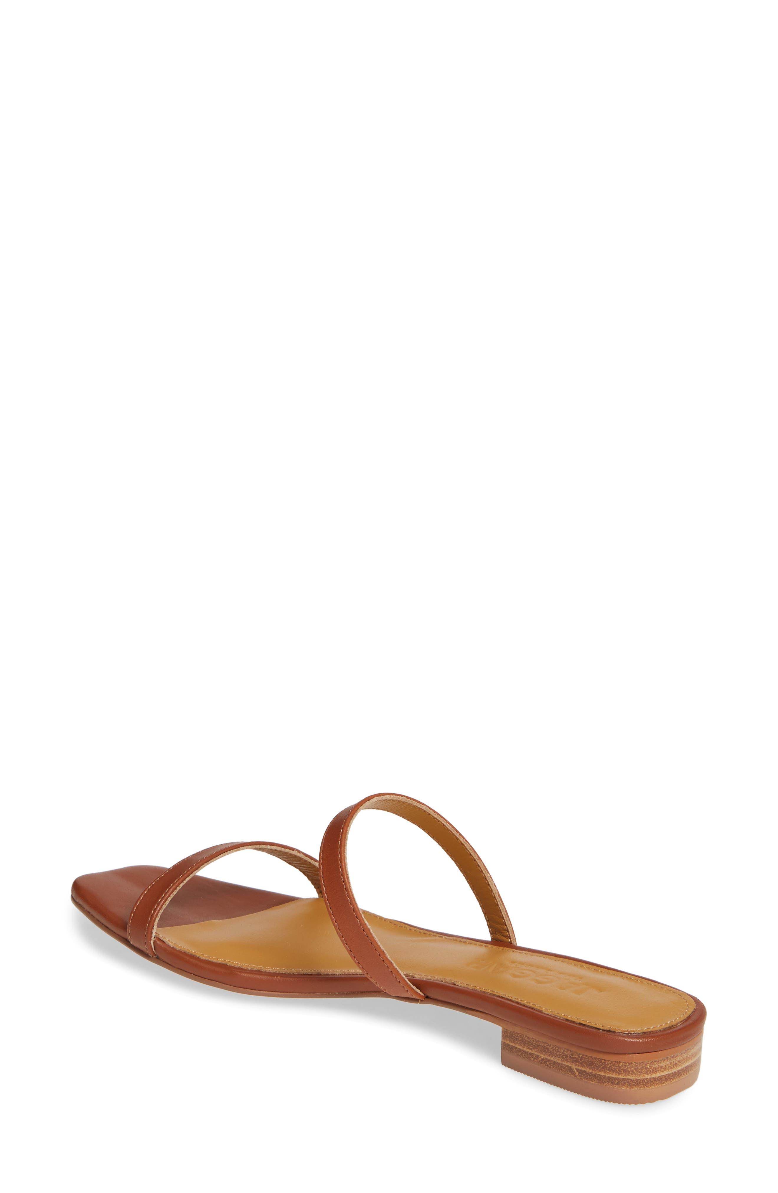 JAGGAR, Sprung Slide Sandal, Alternate thumbnail 2, color, RUST LEATHER