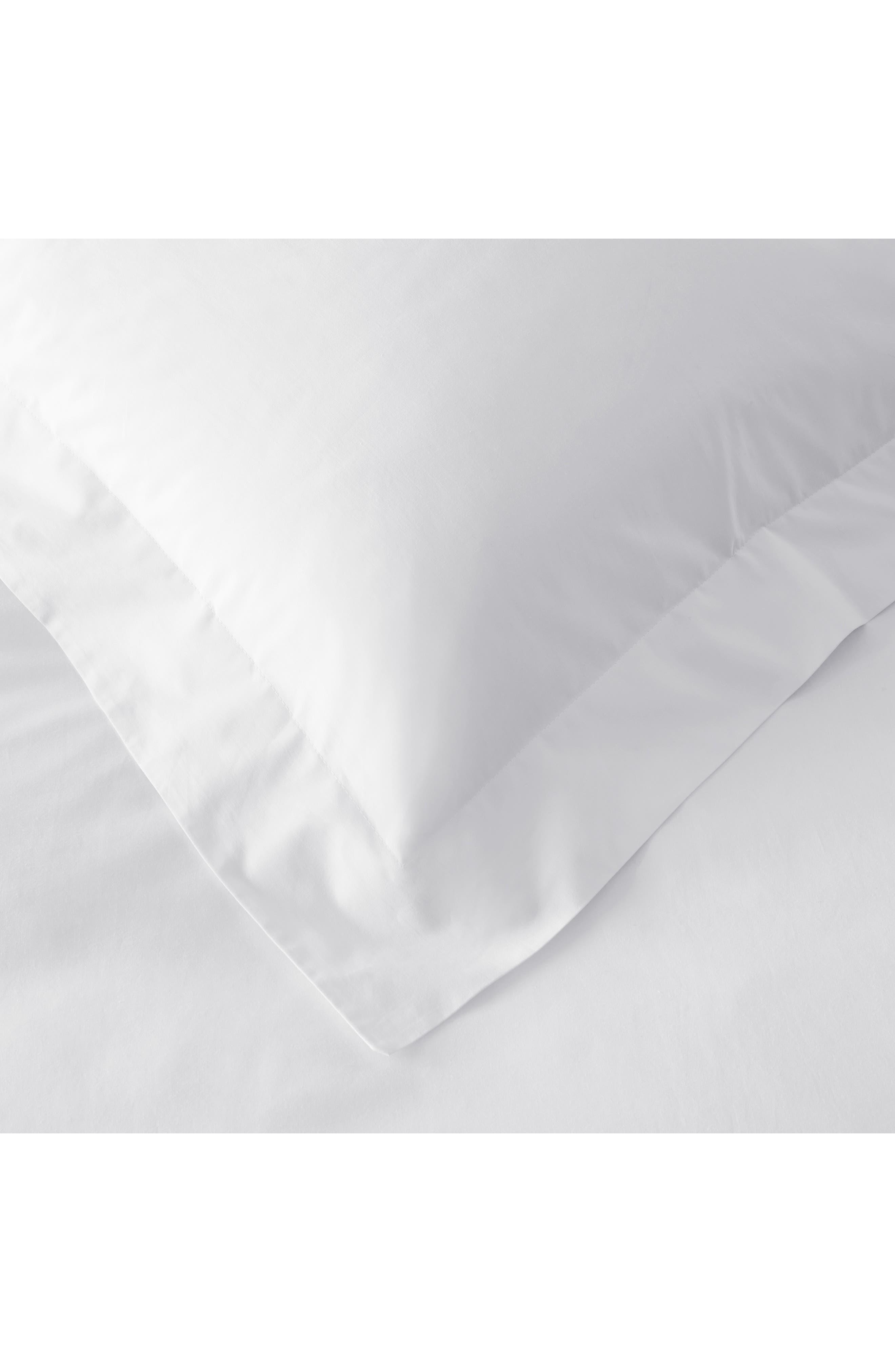 THE WHITE COMPANY, 200 Thread Count Egyptian Cotton Flat Sheet, Alternate thumbnail 2, color, WHITE