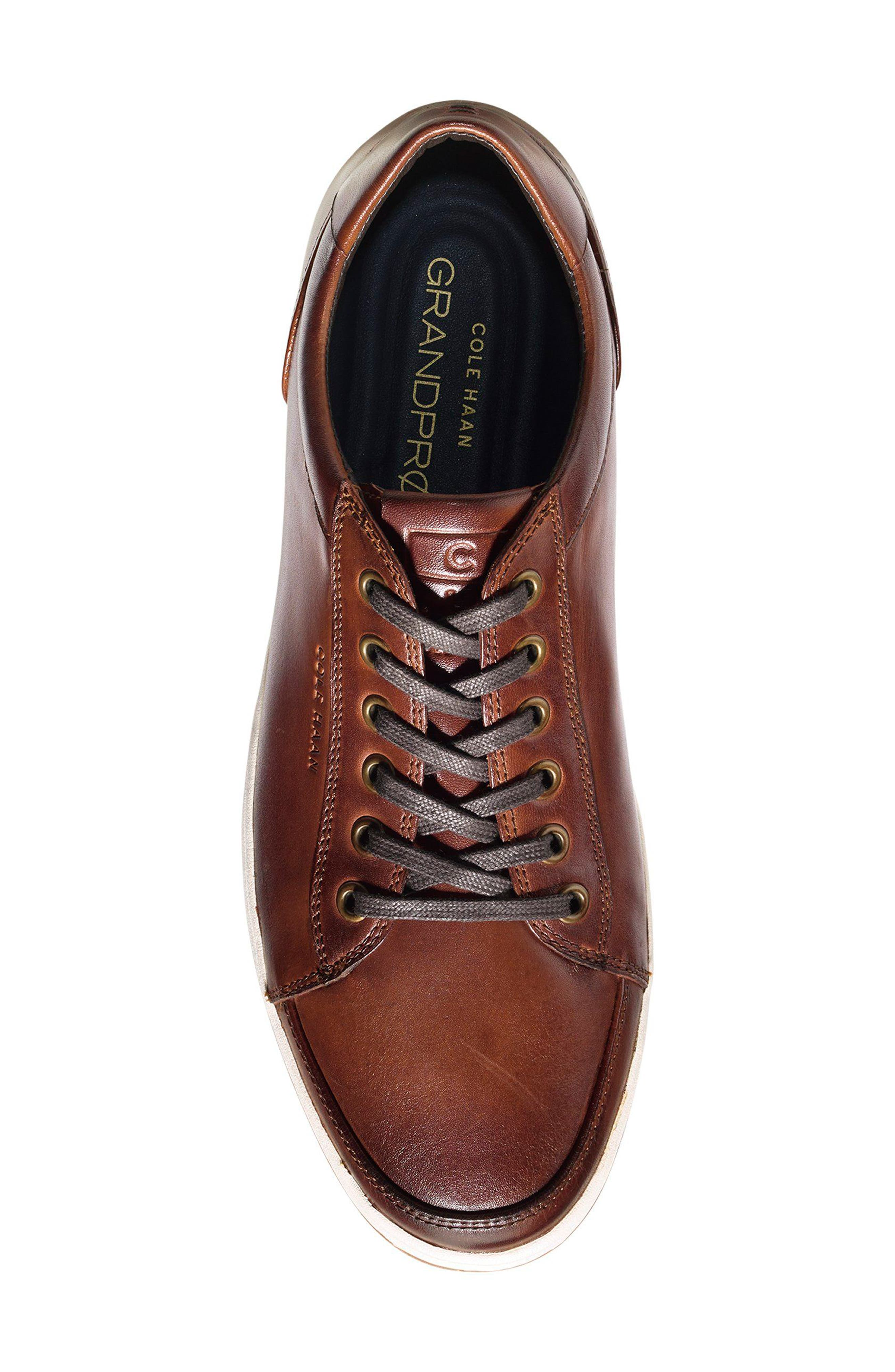 COLE HAAN, GrandPro Spectator Sneaker, Alternate thumbnail 5, color, WOODBURY LEATHER