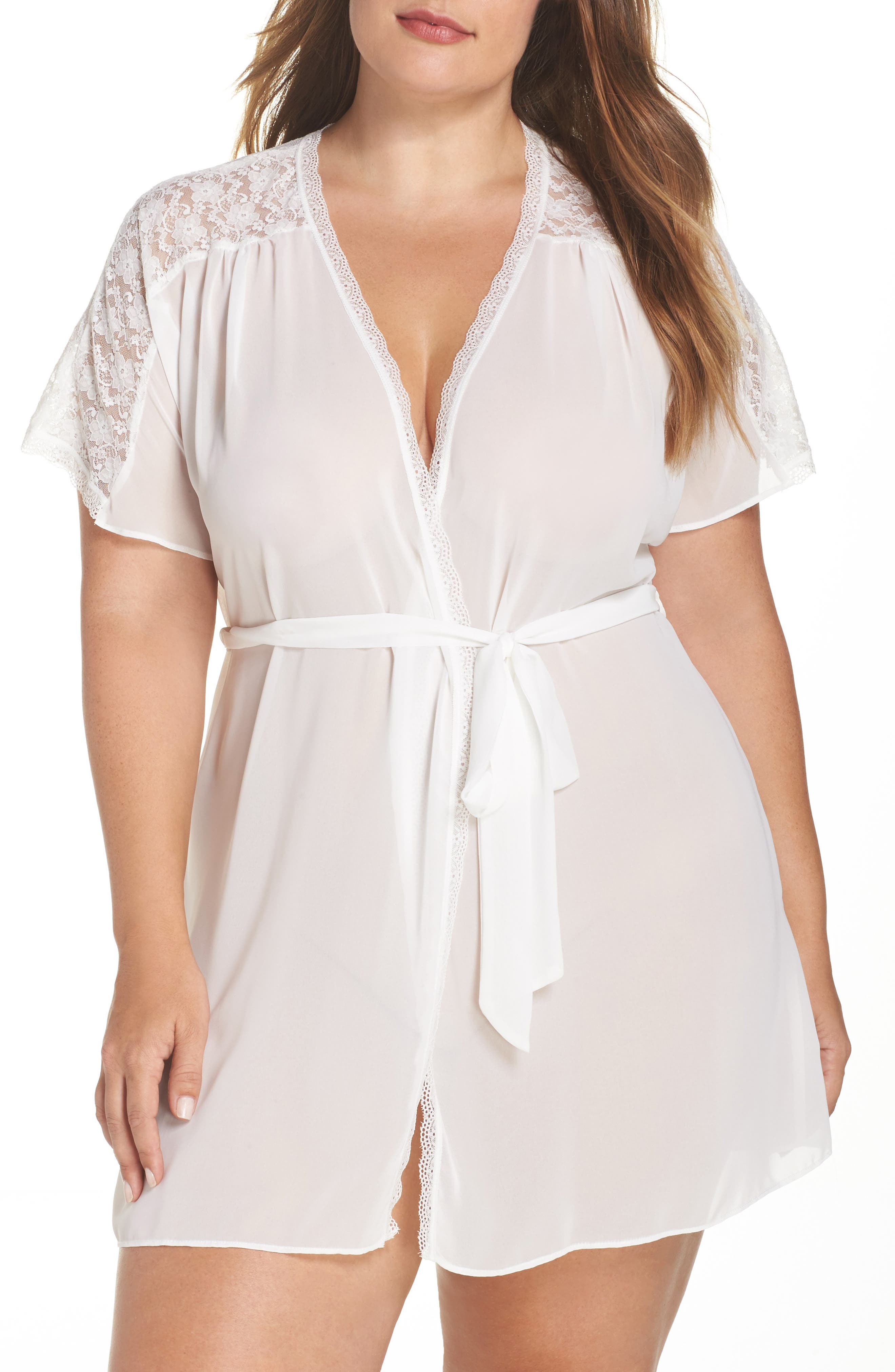IN BLOOM BY JONQUIL Chiffon Robe, Main, color, IVORY