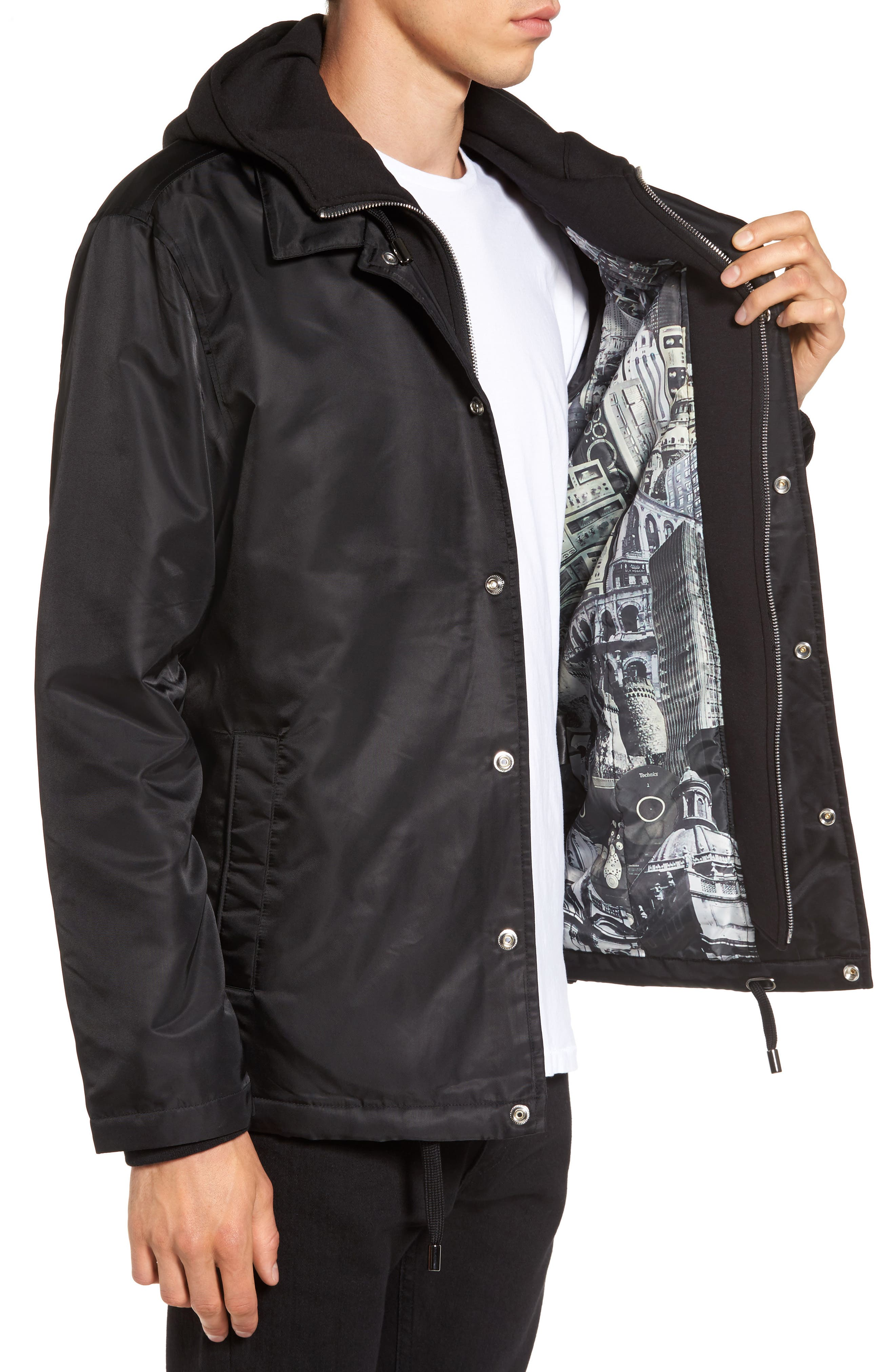 THE VERY WARM, Yorkshire Hooded Coach's Jacket, Alternate thumbnail 3, color, 001