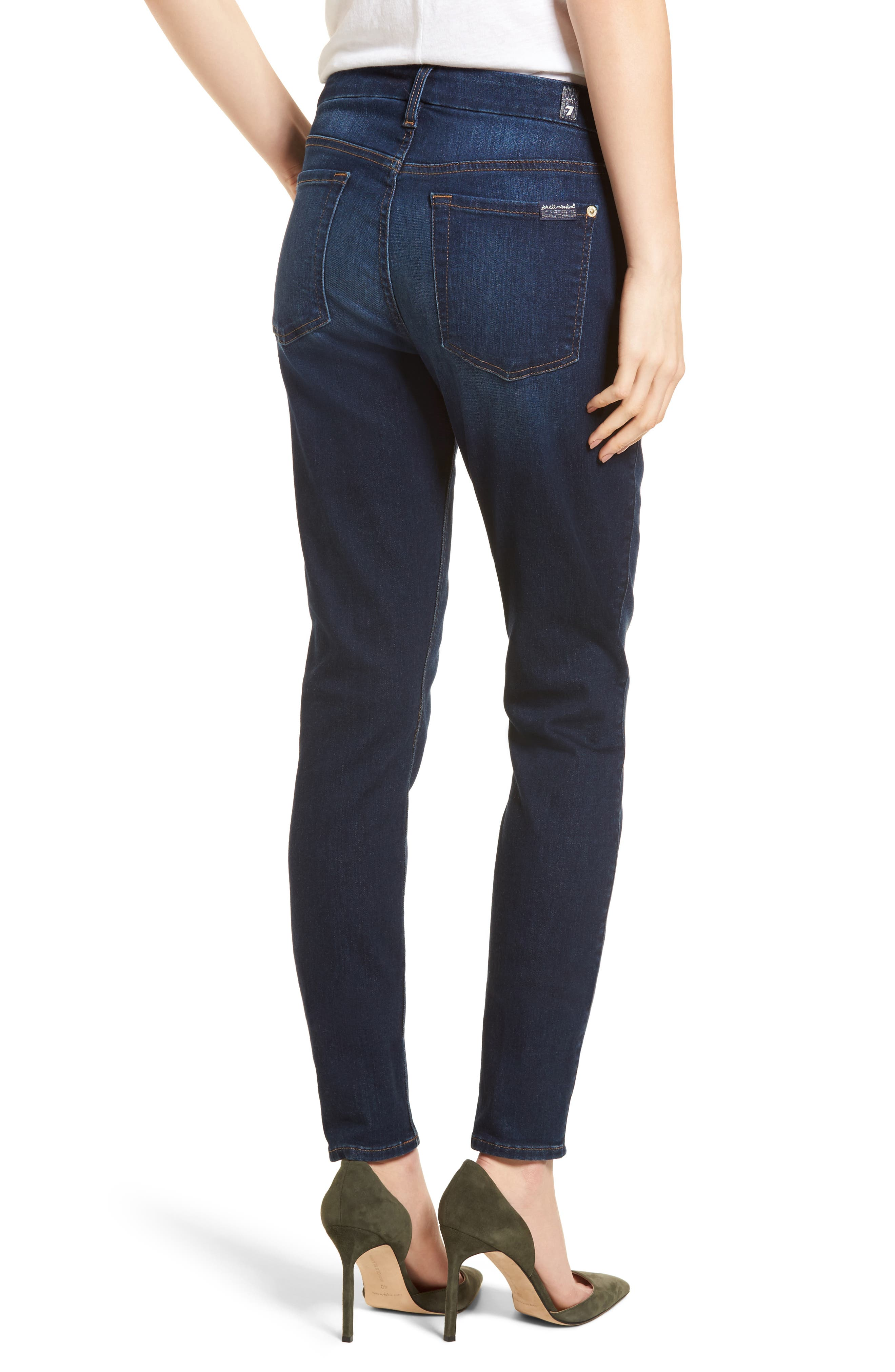 7 FOR ALL MANKIND<SUP>®</SUP>, b(air) High Waist Skinny Jeans, Alternate thumbnail 2, color, MORENO