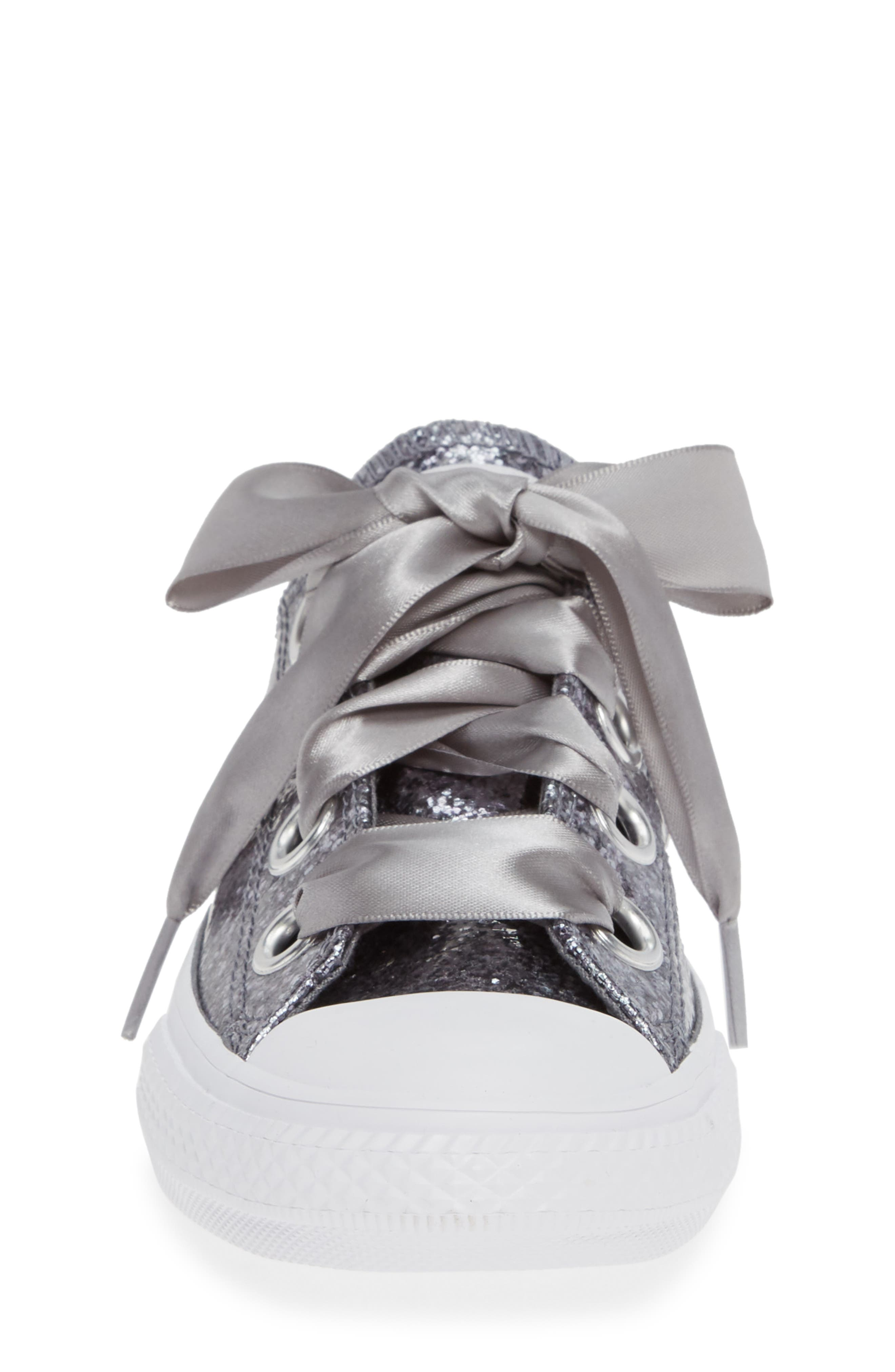 CONVERSE, Chuck Taylor<sup>®</sup> All Star<sup>®</sup> Glitter Big Eyelet Ox Sneaker, Alternate thumbnail 4, color, 020