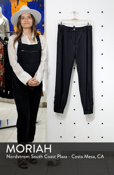 Bertina Pleated Wool Crop Pants, sales video thumbnail