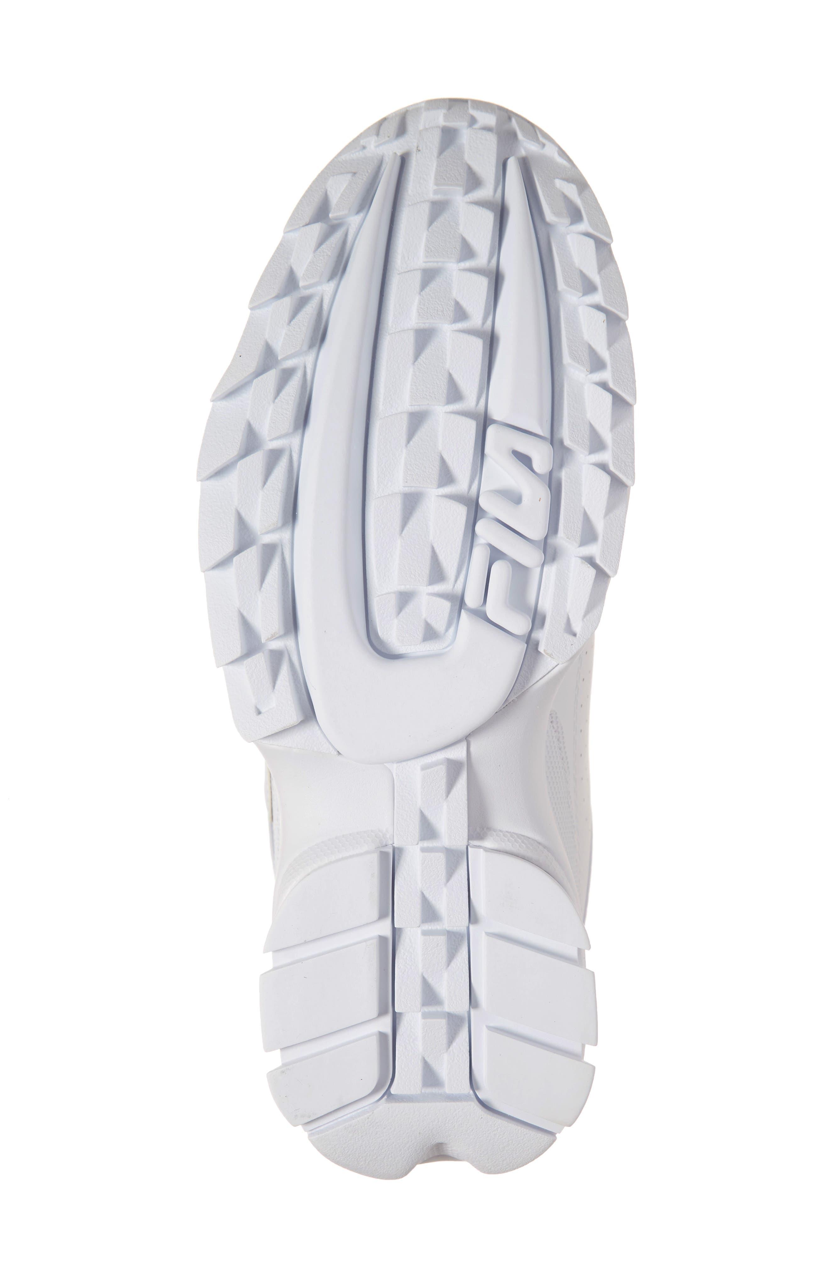 FILA, Disruptor II Premium Sneaker, Alternate thumbnail 6, color, WHITE/ NAVY/ RED