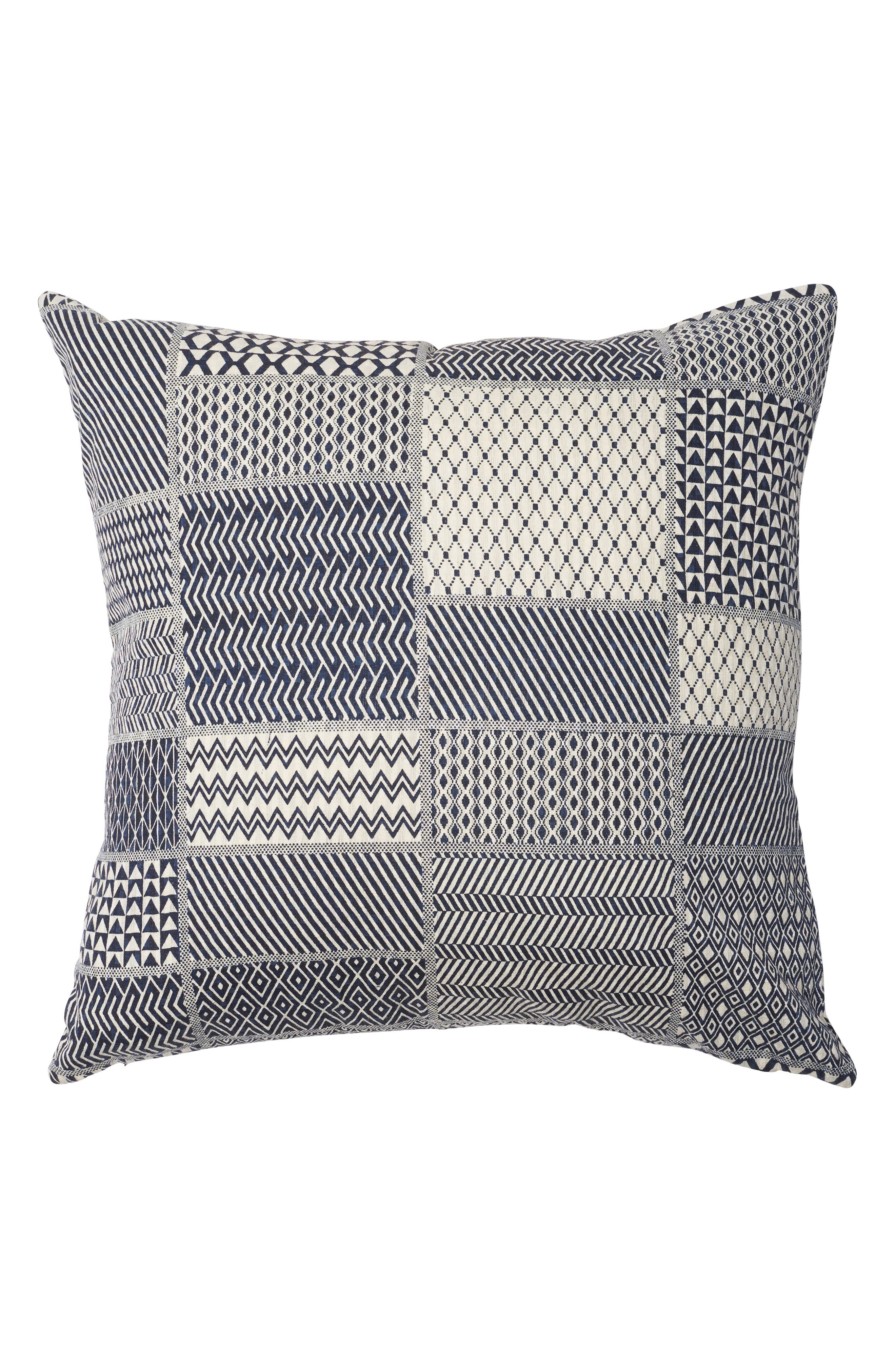 EADIE LIFESTYLE Tiptoe Scatter Accent Pillow, Main, color, NAVY/ WHITE
