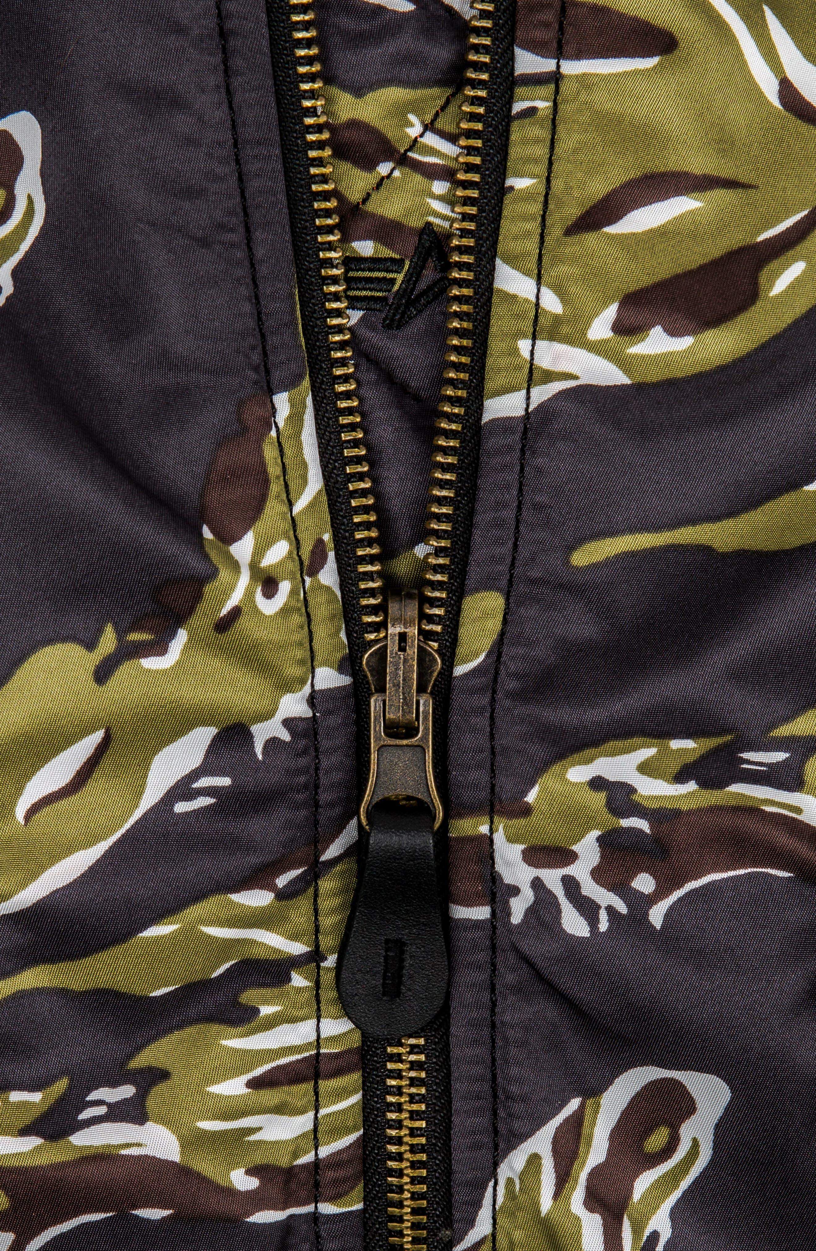 ALPHA INDUSTRIES, MA-1 Flight Jacket, Alternate thumbnail 5, color, TIGER CAMO