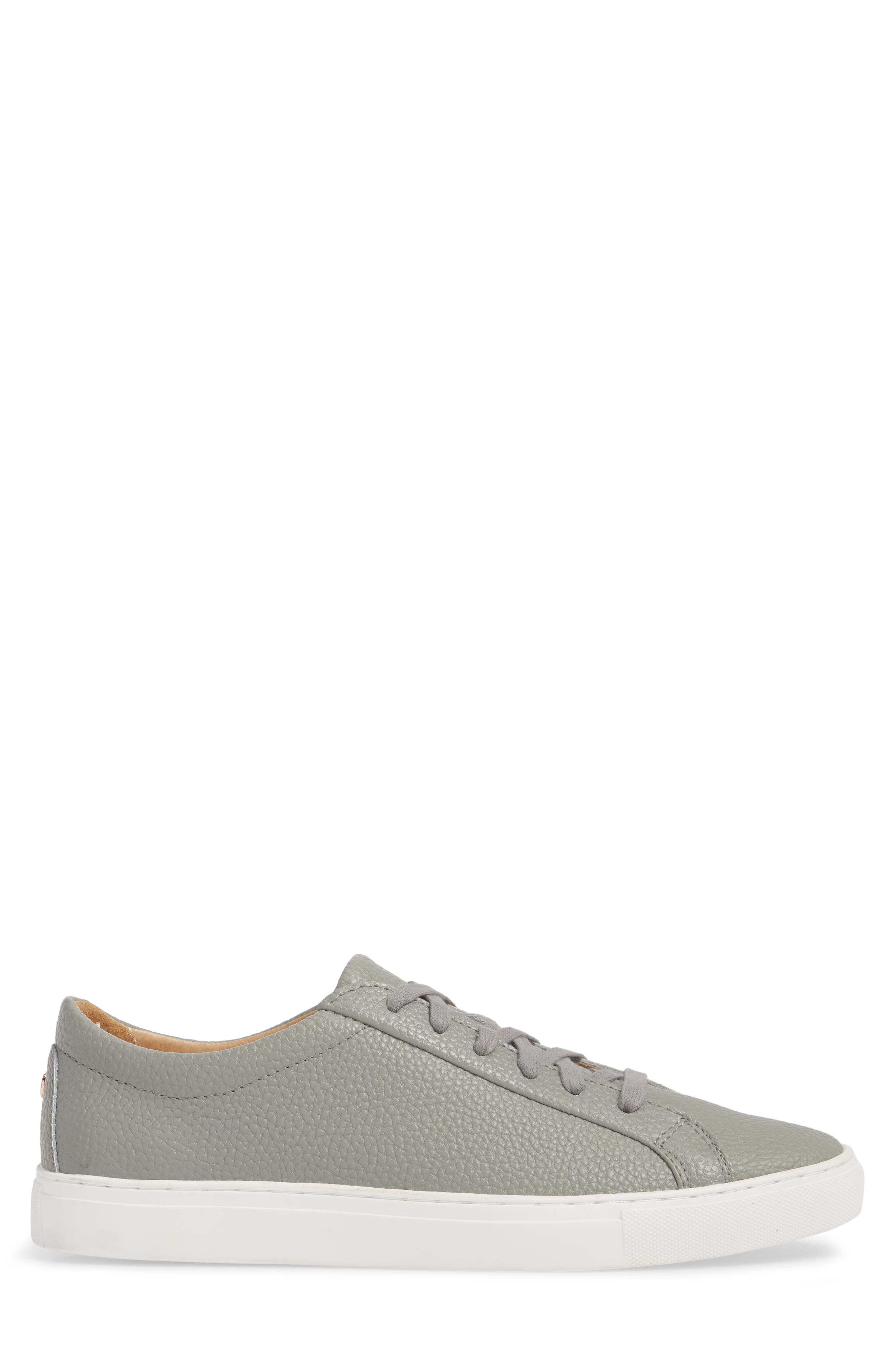 TCG, Kennedy Low Top Sneaker, Alternate thumbnail 3, color, RIVER ROCK LEATHER