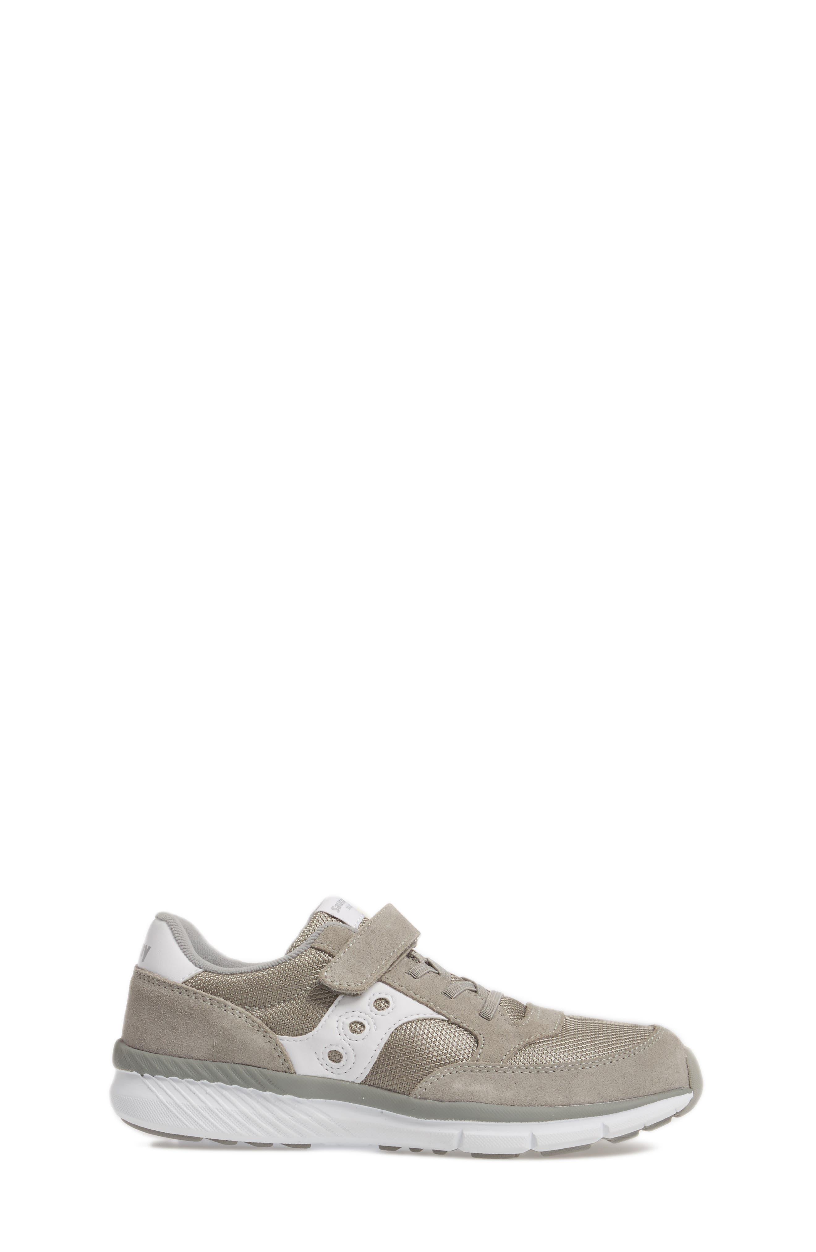 SAUCONY, Jazz Lite Sneaker, Alternate thumbnail 3, color, GREY/ WHITE