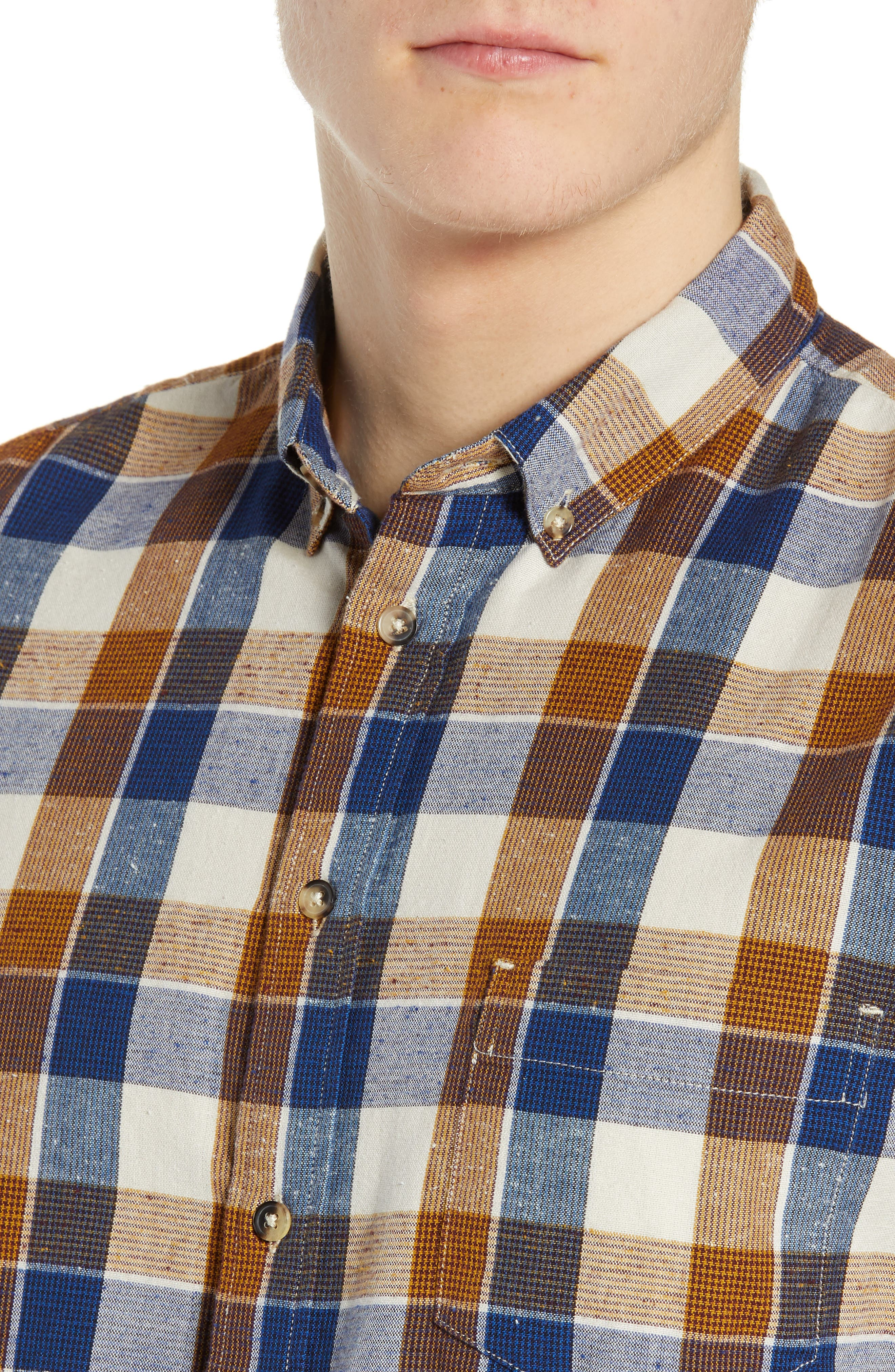 LEVI'S<SUP>®</SUP> MADE & CRAFTED<SUP>™</SUP>, Standard Plaid Sport Shirt, Alternate thumbnail 2, color, LEON PLAID MULTI