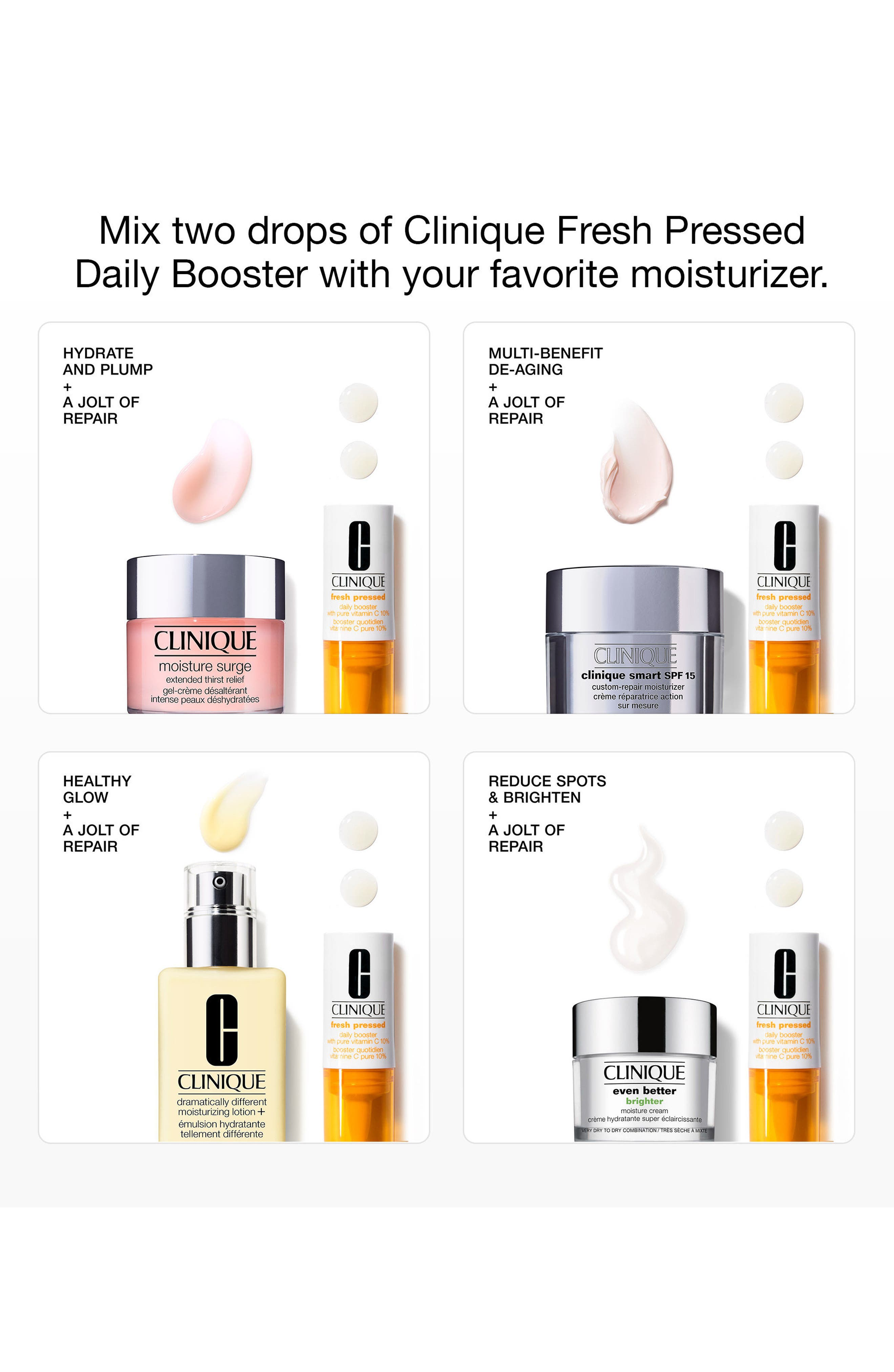 CLINIQUE, Fresh Pressed Daily Booster with Pure Vitamin C 10% Serum, Alternate thumbnail 5, color, NO COLOR