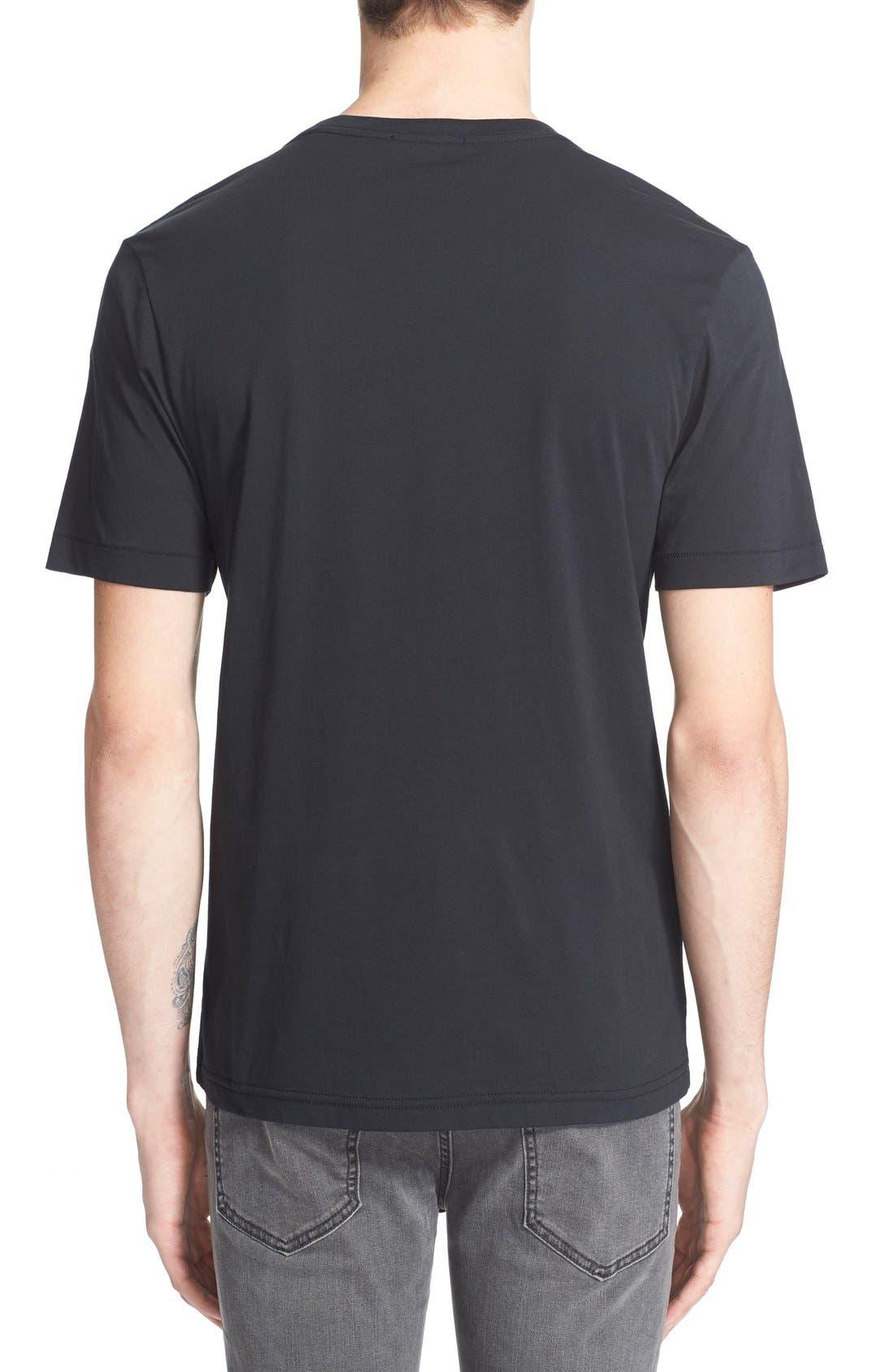 BLK DNM, 'T-Shirt 3' Pima Cotton T-Shirt, Alternate thumbnail 6, color, 001