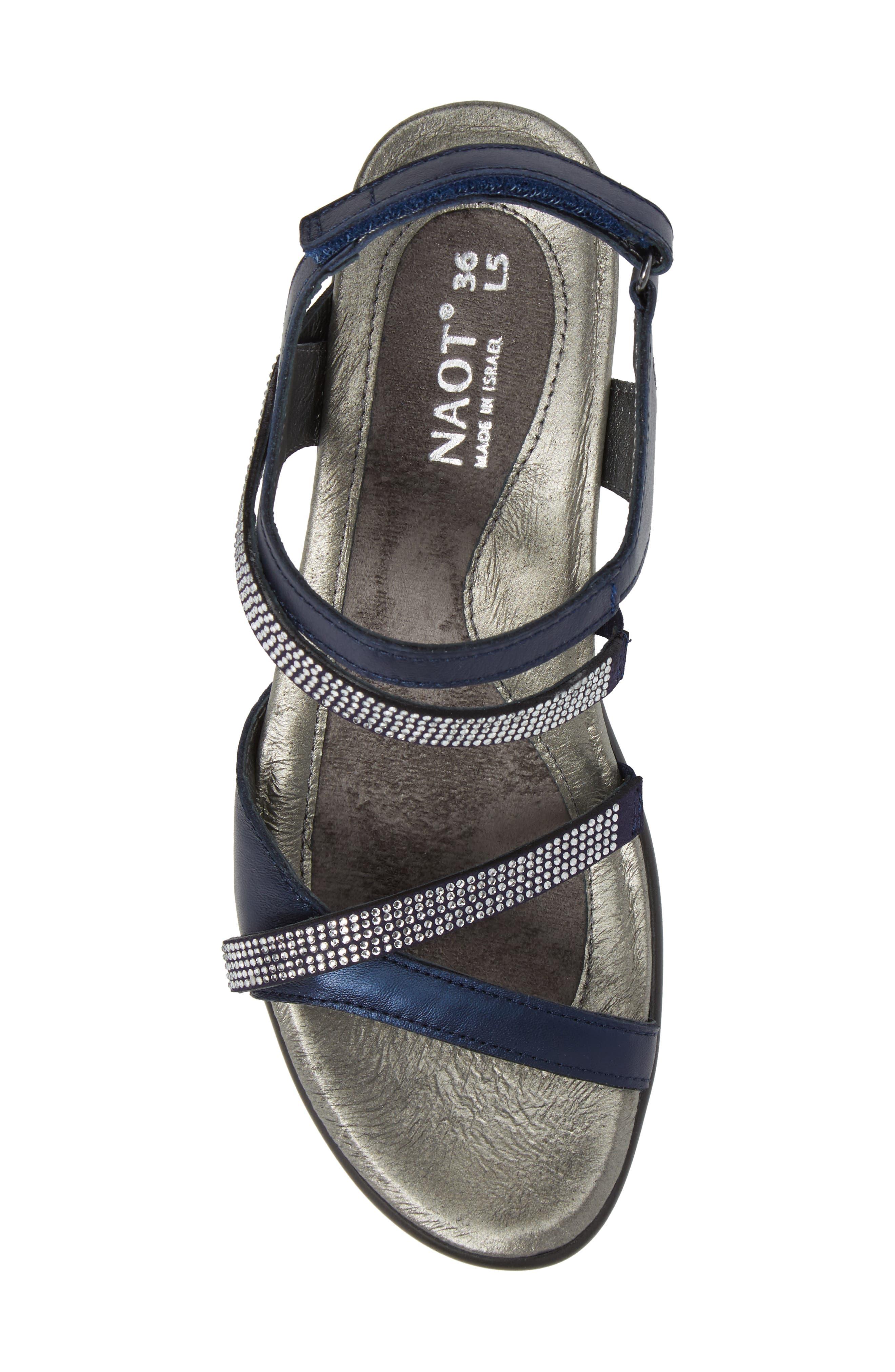 NAOT, Innovate Sandal, Alternate thumbnail 5, color, POLAR SEAL LEATHER