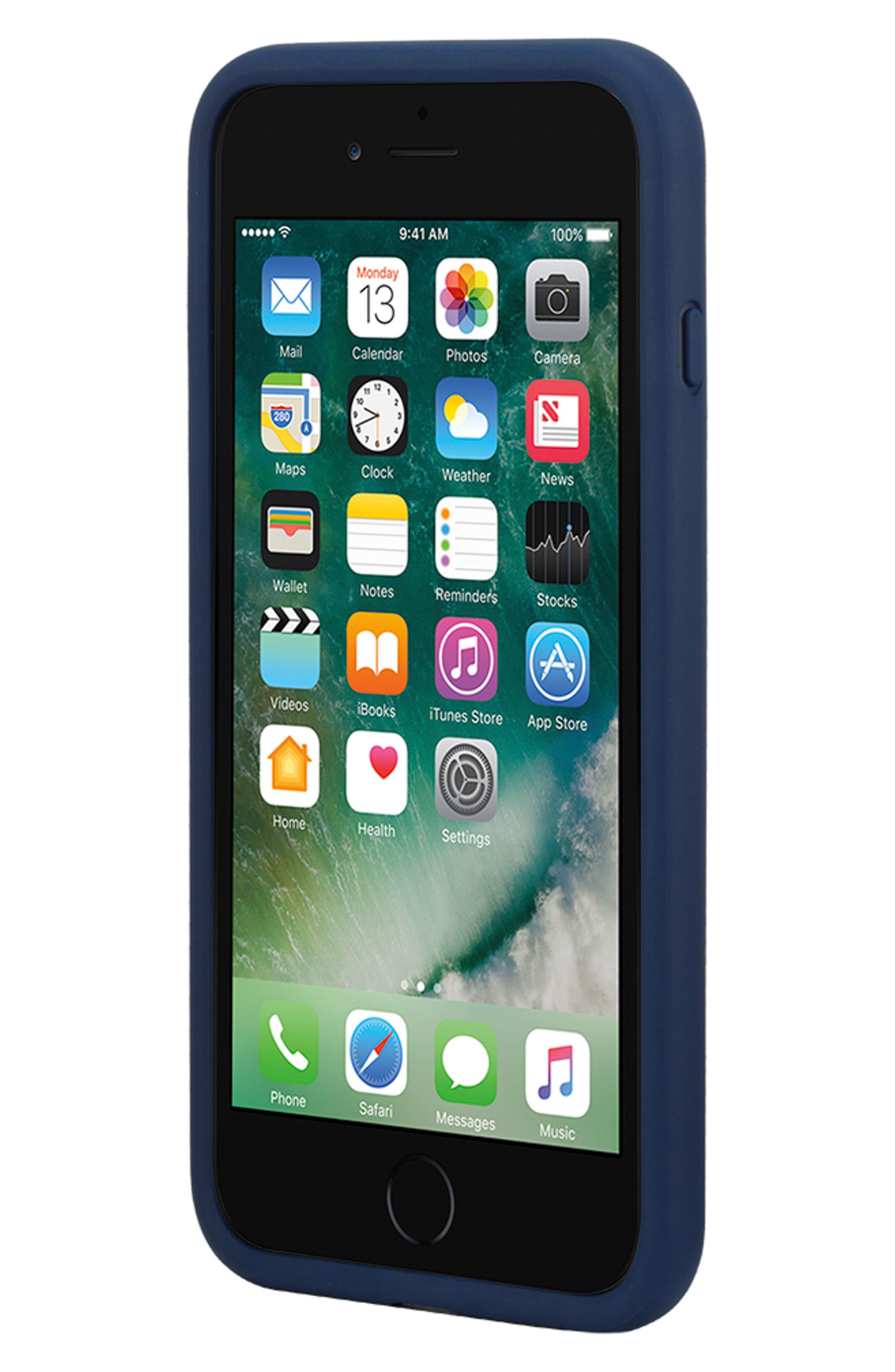 INCASE DESIGNS, Pop Tint iPhone 7/8 Plus Case, Alternate thumbnail 5, color, NAVY