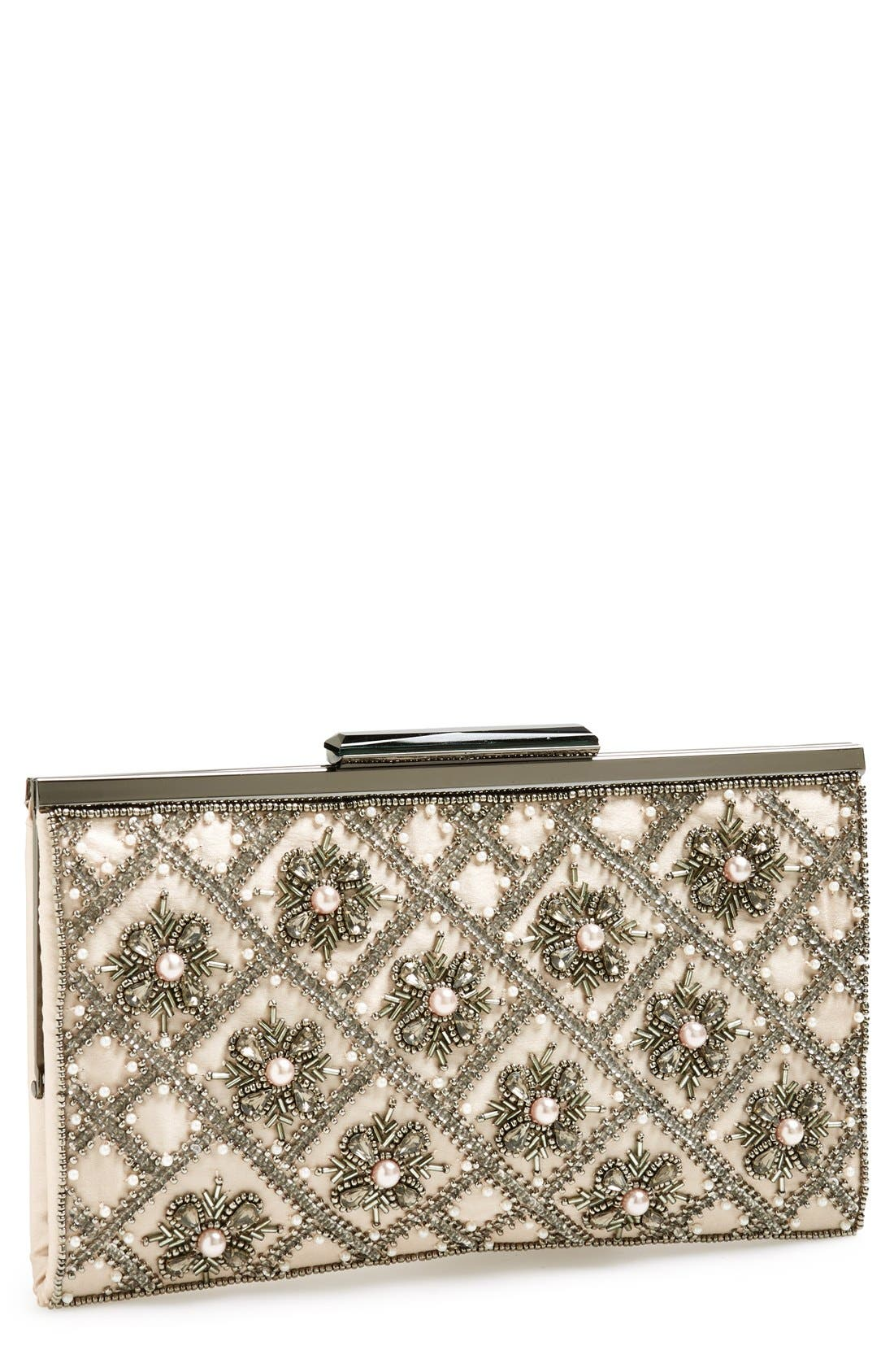 GLINT 'Topper' Embellished Frame Clutch, Main, color, 950