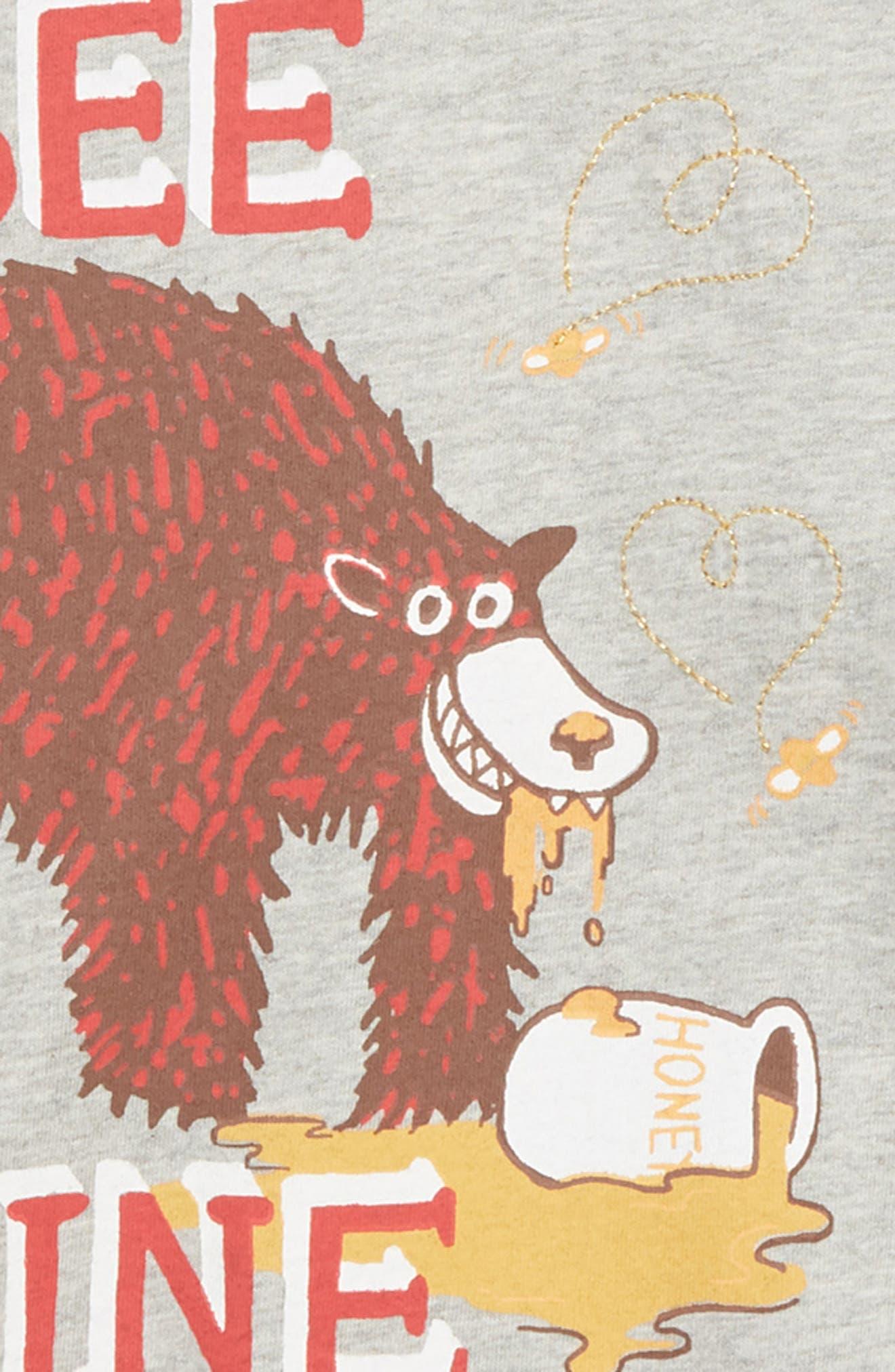 TUCKER + TATE, Graphic T-Shirt, Alternate thumbnail 2, color, GREY MEDIUM HEATHER BEE MINE