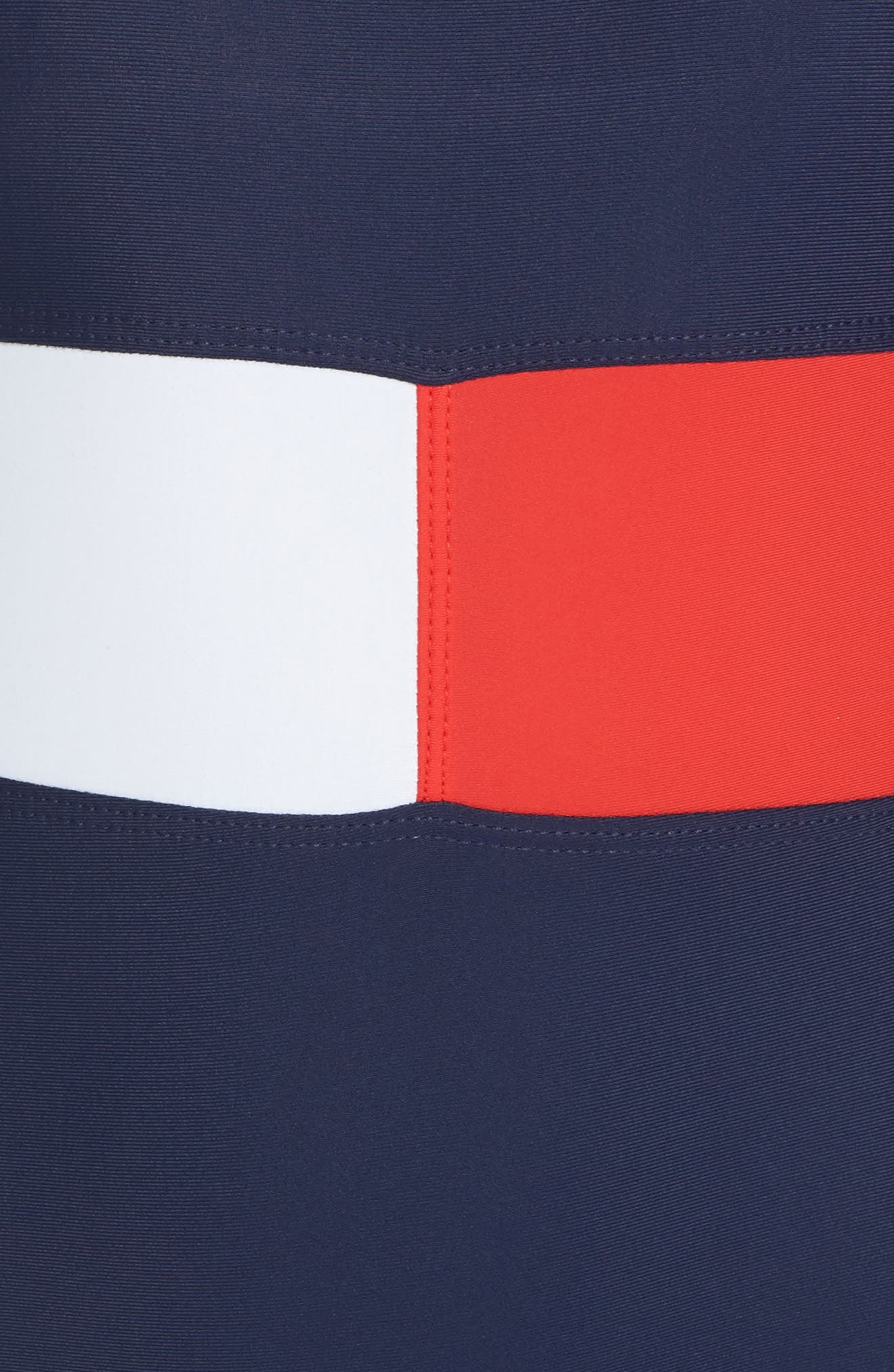TOMMY HILFIGER, Flag One-Piece Swimsuit, Alternate thumbnail 5, color, 400
