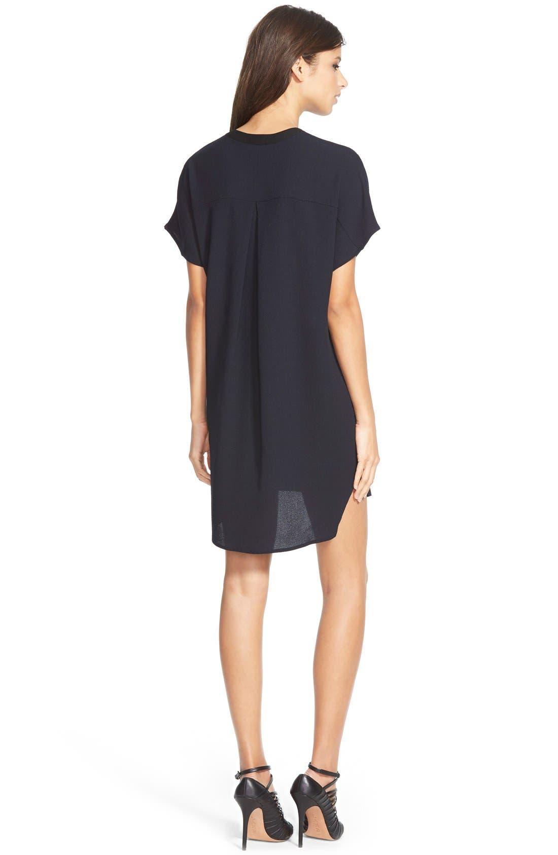 ASTR THE LABEL, ASTR V-Neck Crepe Shift Dress, Alternate thumbnail 10, color, 400