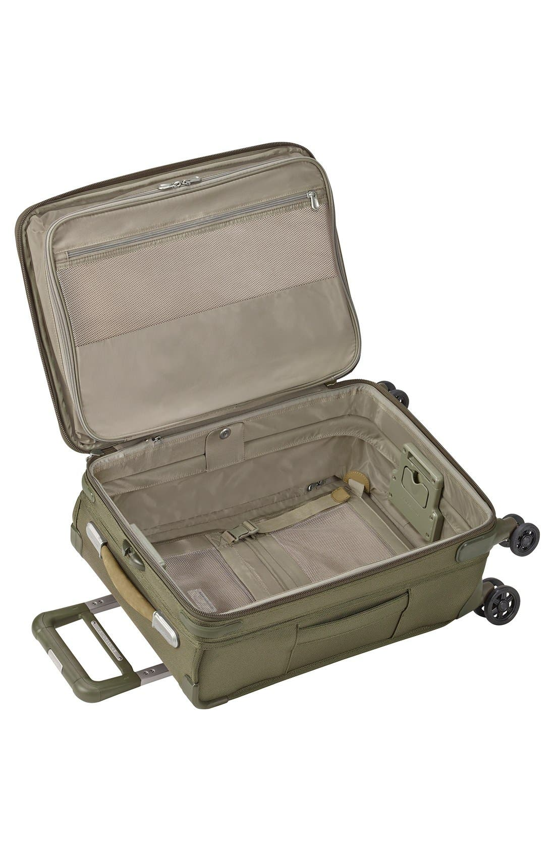 BRIGGS & RILEY, Baseline Domestic 22-Inch Expandable Rolling Carry-On, Alternate thumbnail 2, color, OLIVE