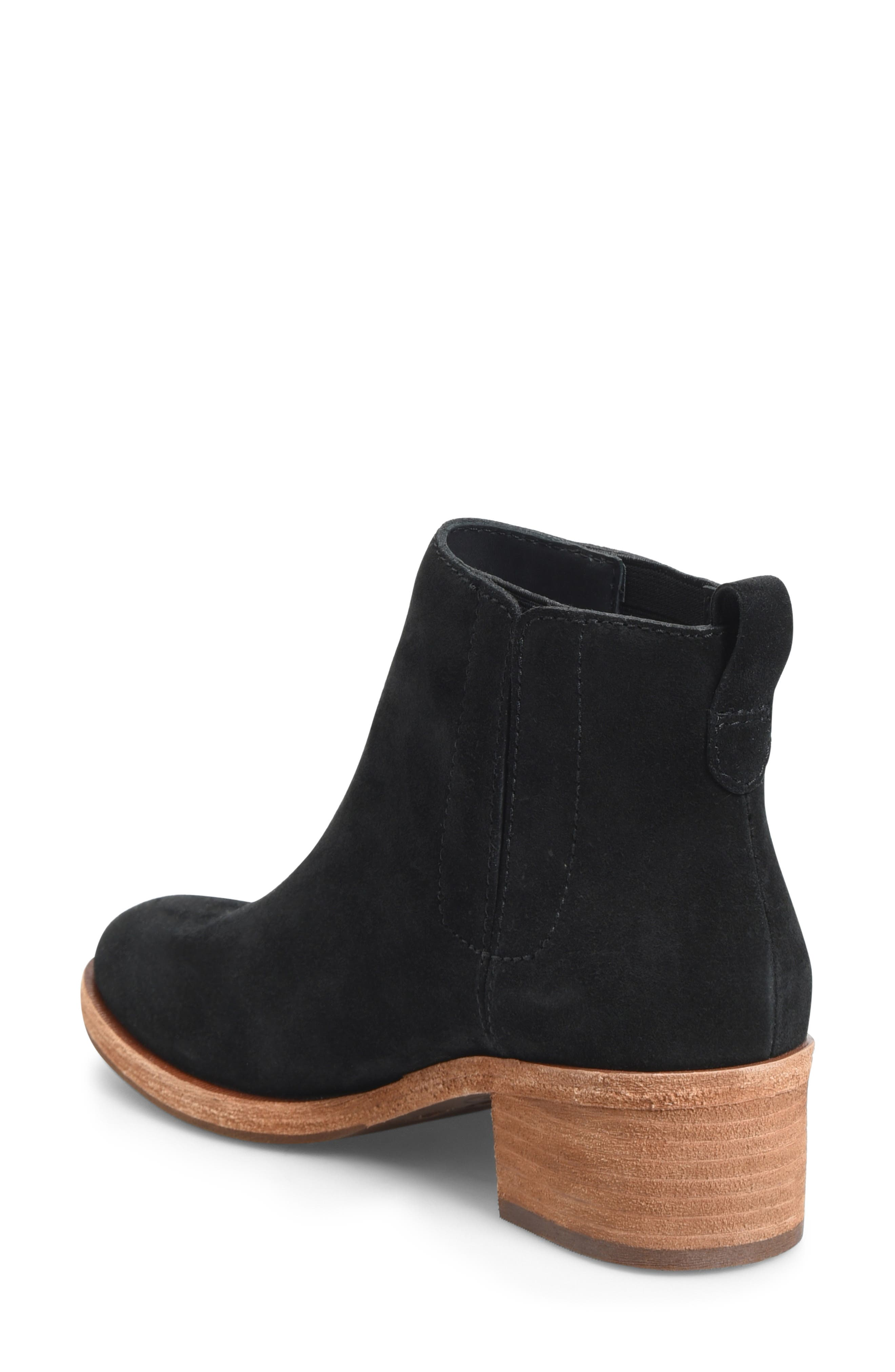 KORK-EASE<SUP>®</SUP>, Mindo Chelsea Bootie, Alternate thumbnail 2, color, BLACK SUEDE