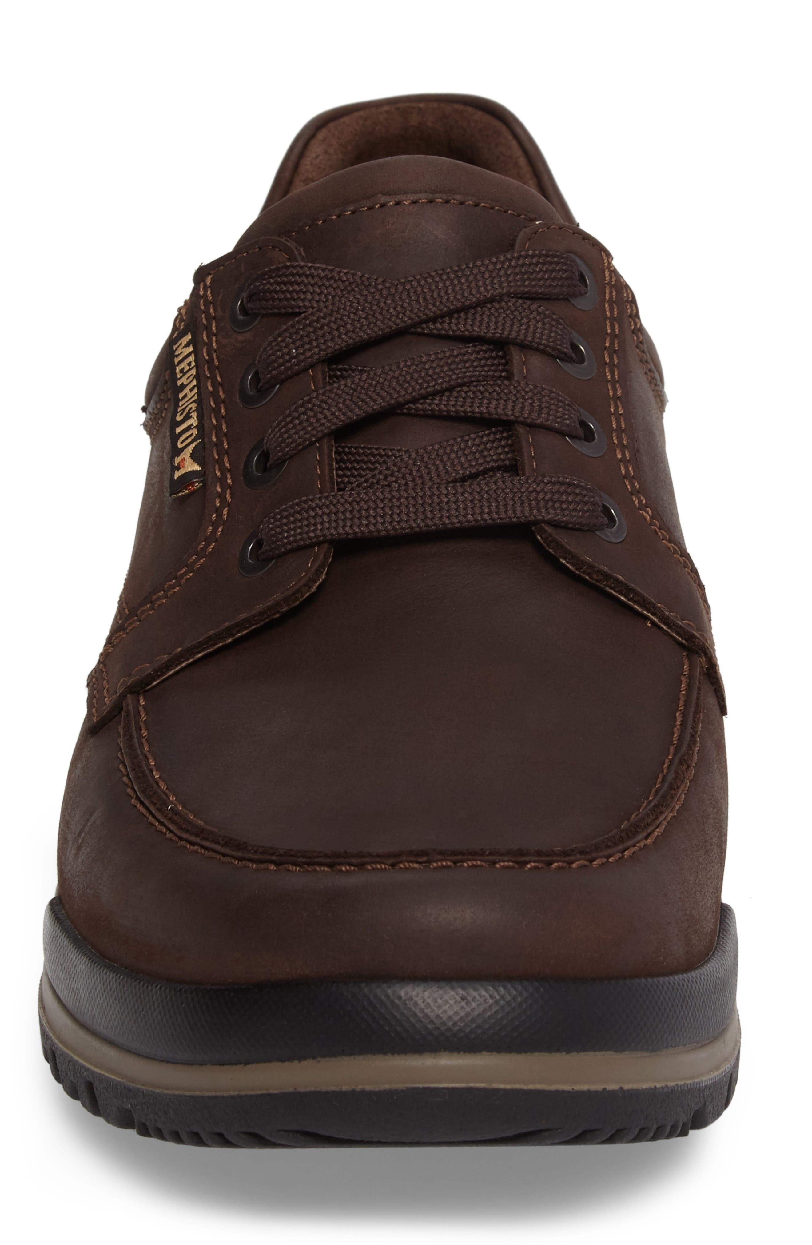 MEPHISTO, Charles Waterproof Walking Shoe, Alternate thumbnail 4, color, DARK BROWN