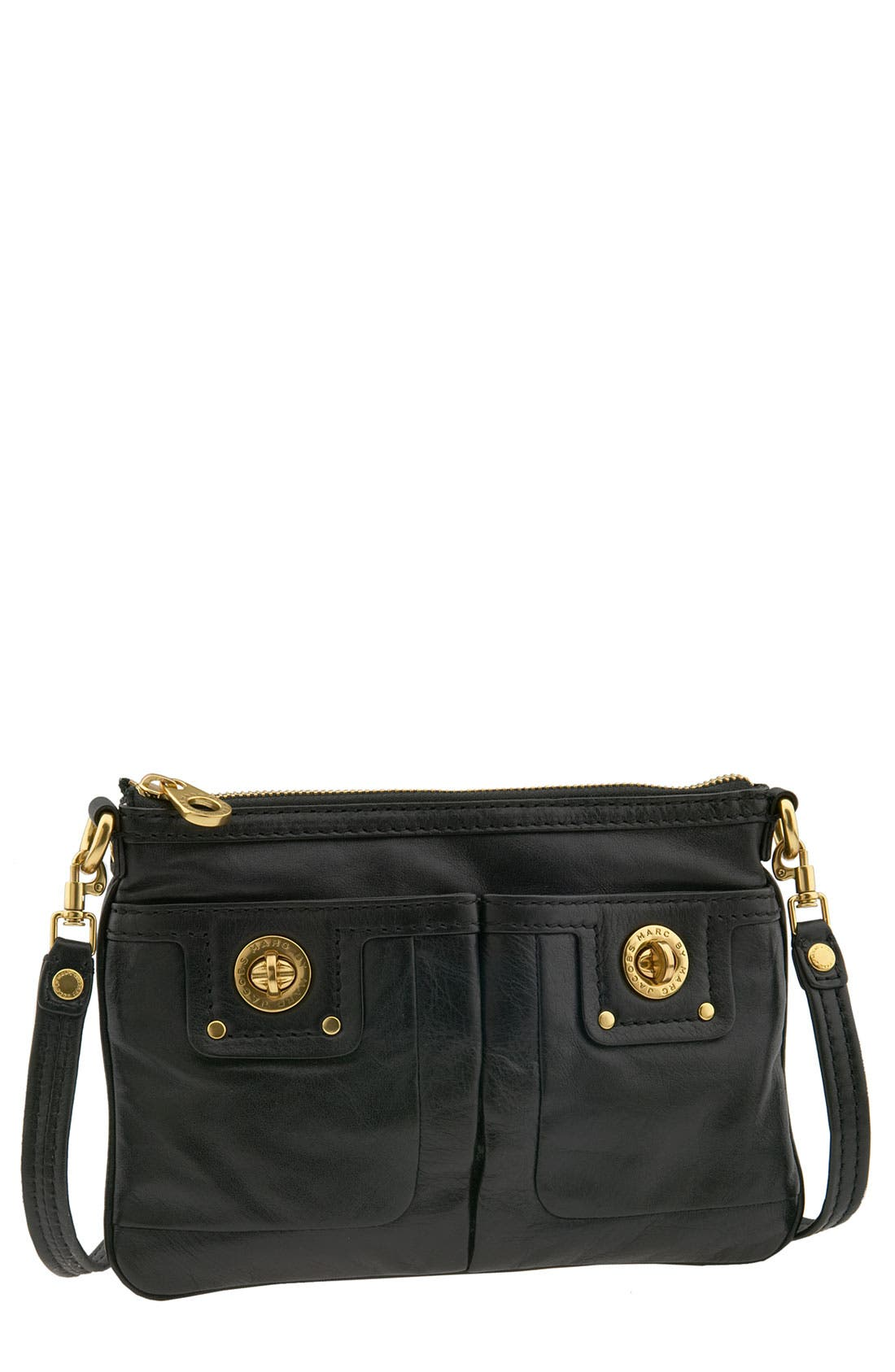 MARC JACOBS MARC BY MARC JACOBS 'Percy' Turnlock Crossbody Bag, Main, color, 001